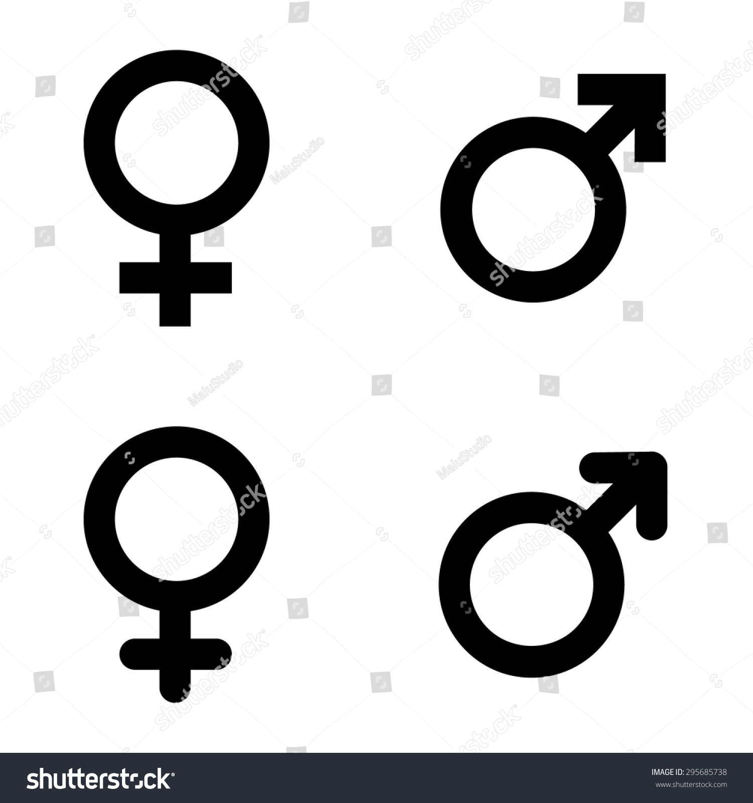 Male female symbols vector illustration stock vector 295685738 male and female symbols vector illustration buycottarizona
