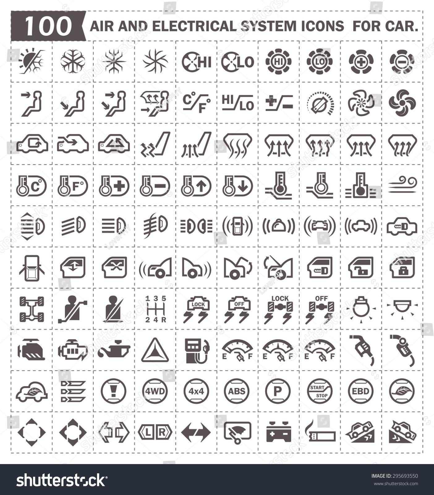 car dashboard symbols vector wwwpixsharkcom images