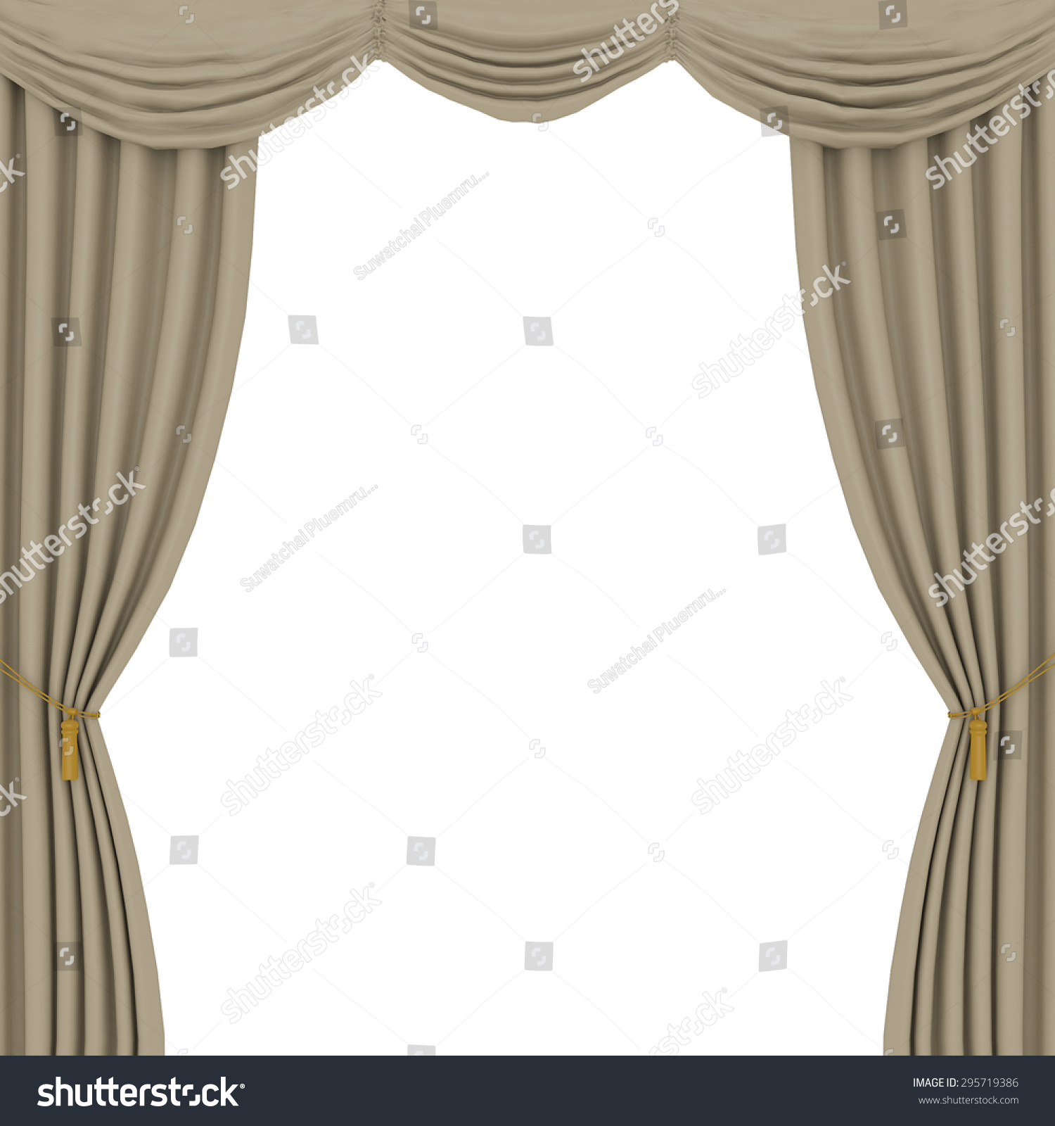 Light brown curtains - Light Brown Curtains On White Background
