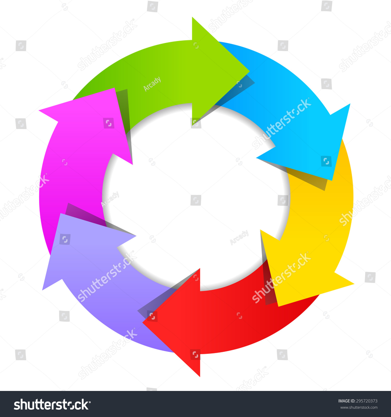 6 part arrow wheel diagram stock vector 2018 295720373 shutterstock 6 part arrow wheel diagram ccuart Images