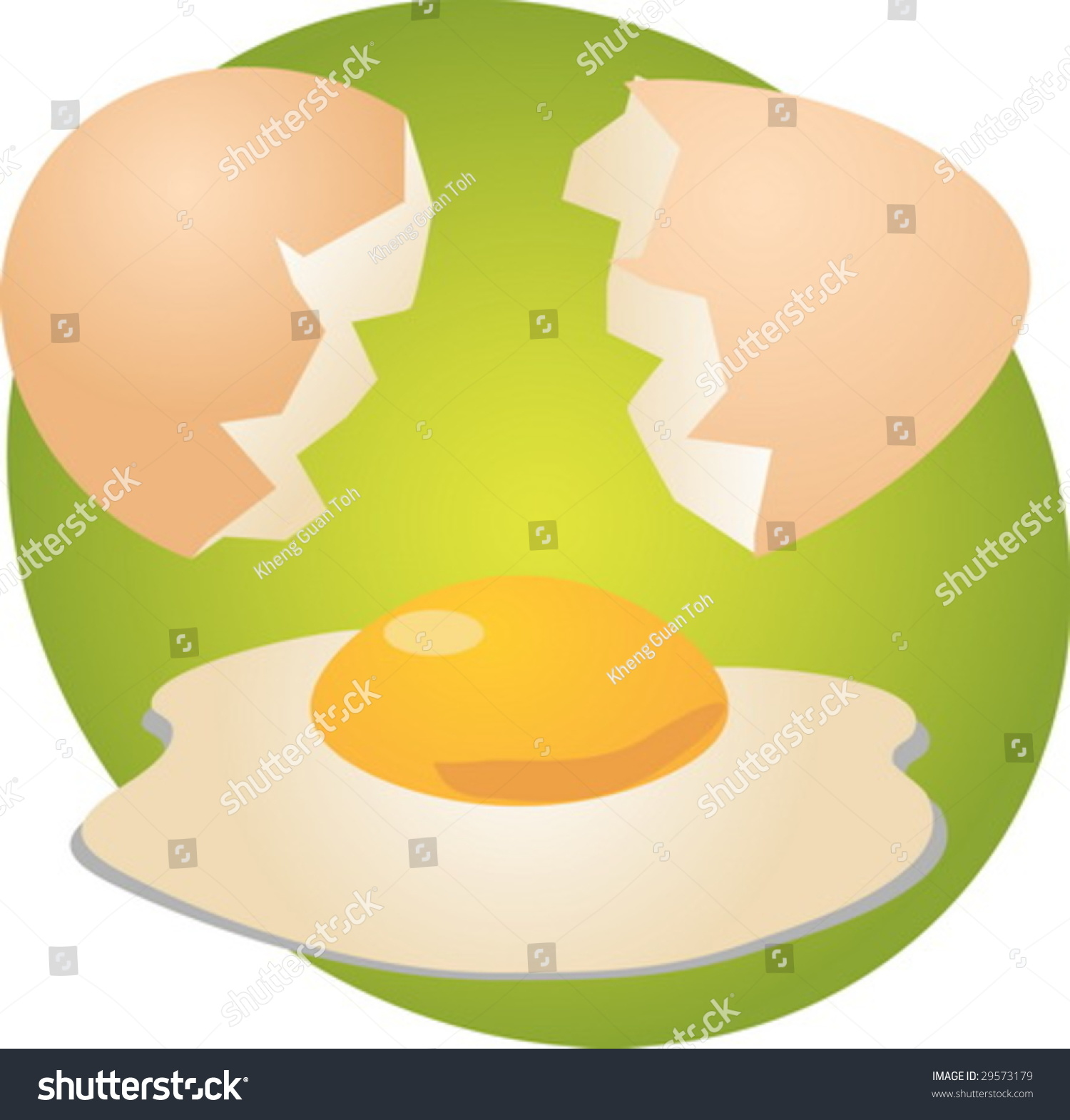 Egg Illustration Clipart Open Shell Yolk Stock Vector 29573179 ... for Clipart Yolk  75tgx