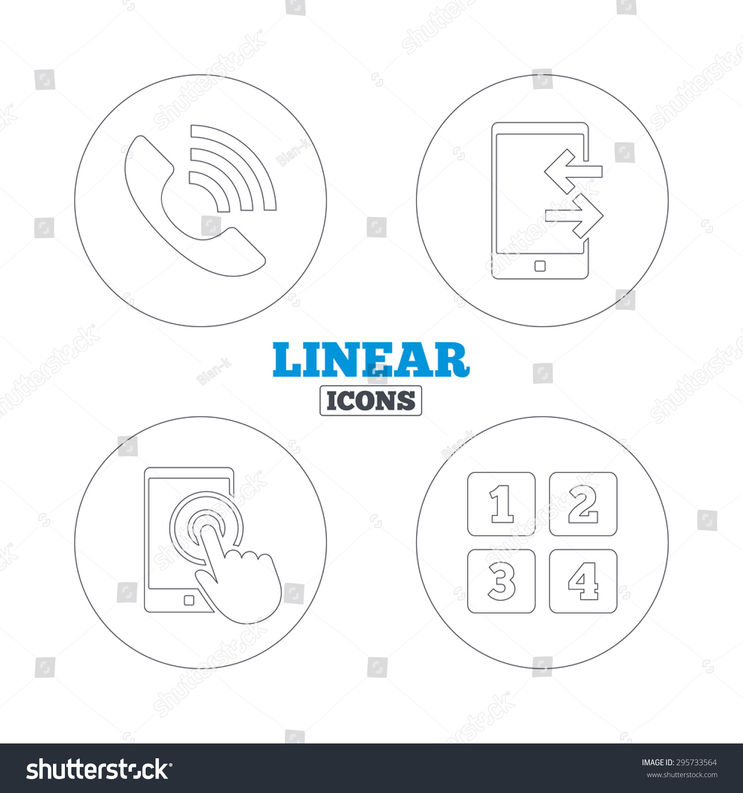 Phone icons touch screen smartphone sign stock vector 295733564 phone icons touch screen smartphone sign call center support symbol cellphone keyboard symbol biocorpaavc Gallery