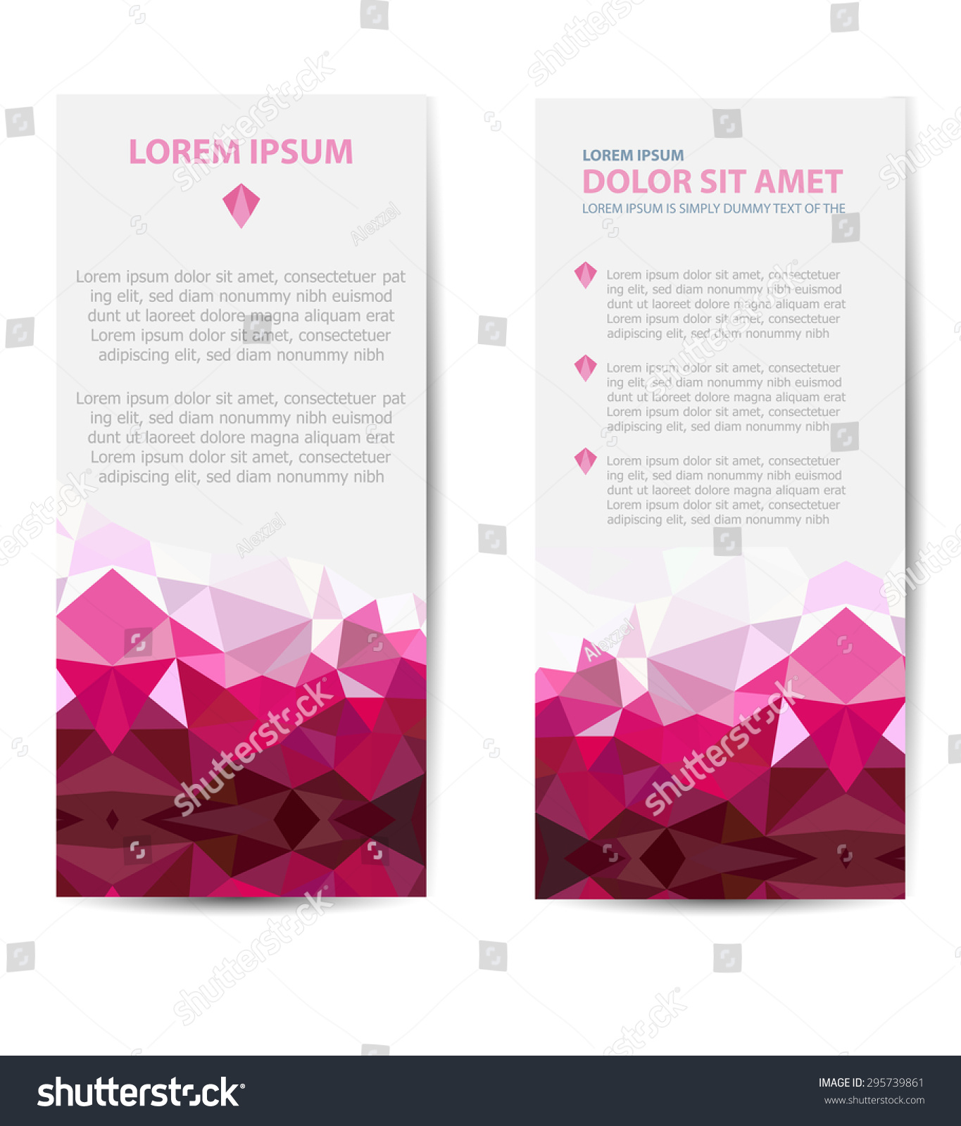 Set Template Invitations Business Cards Flyers Stock Vector ...