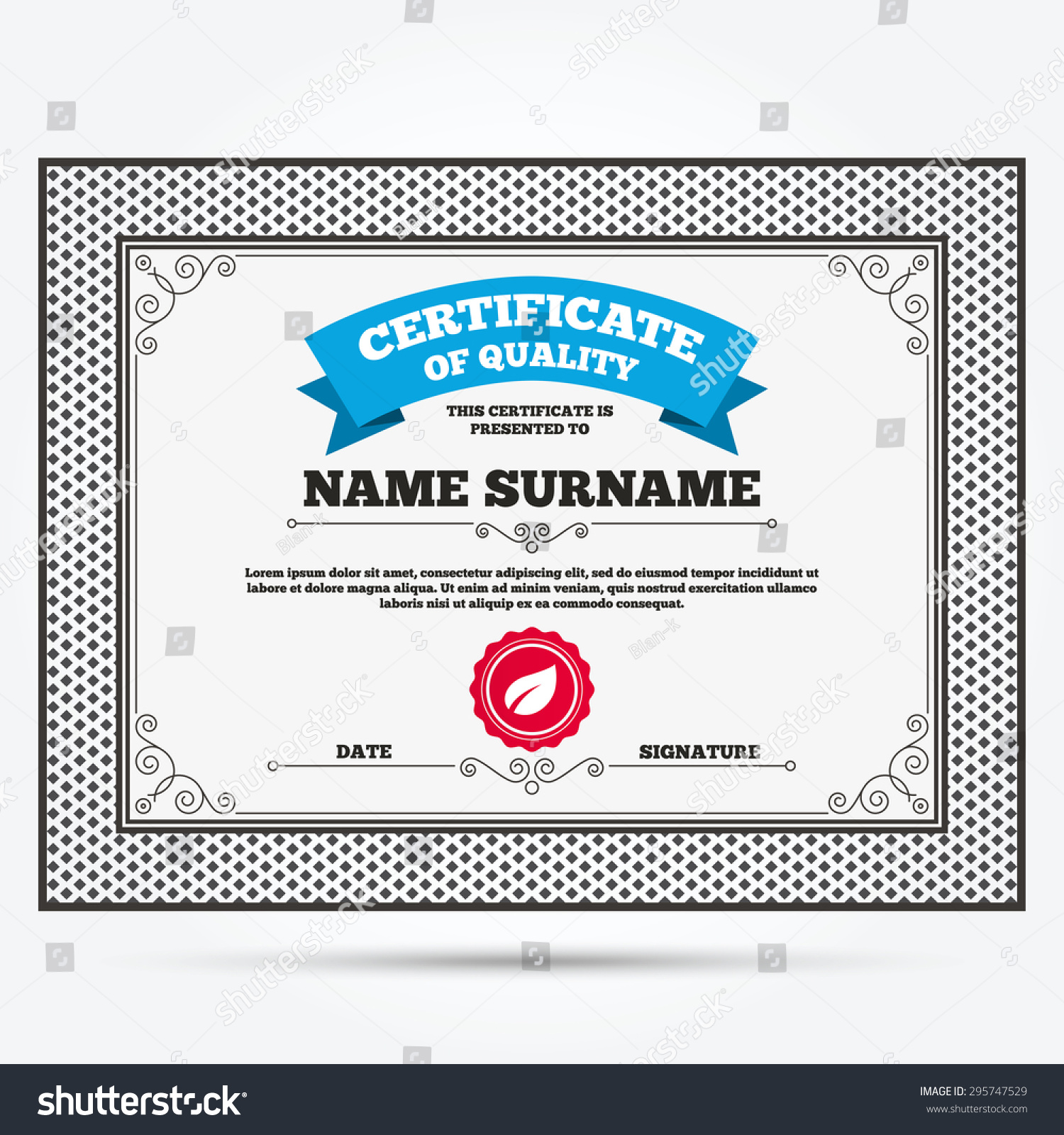 Certificate quality leaf sign icon fresh stock vector 2018 certificate of quality leaf sign icon fresh natural product symbol template with vintage yadclub Gallery