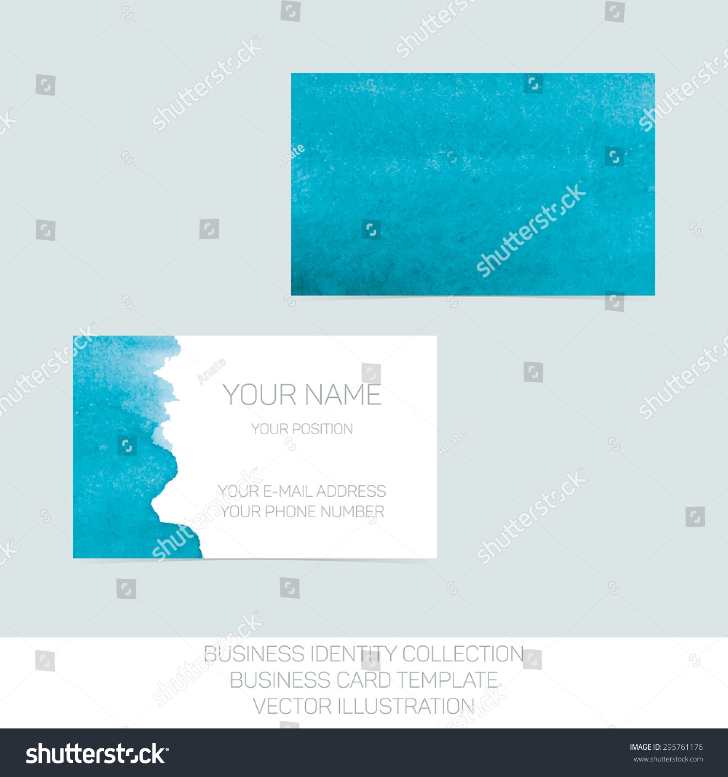 Business Identity Collection Turquoise Tiffany Teal Stock Vector ...