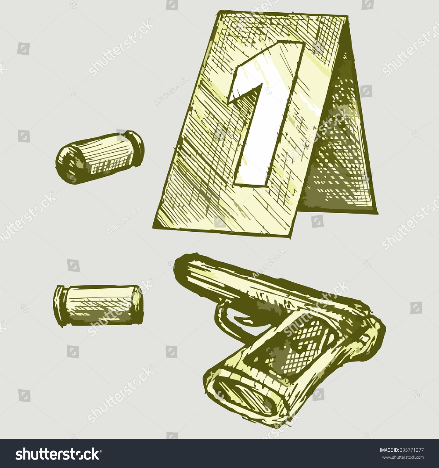 Forensic Science Place Shooting Vector Image Stock Vector Royalty Free 295771277