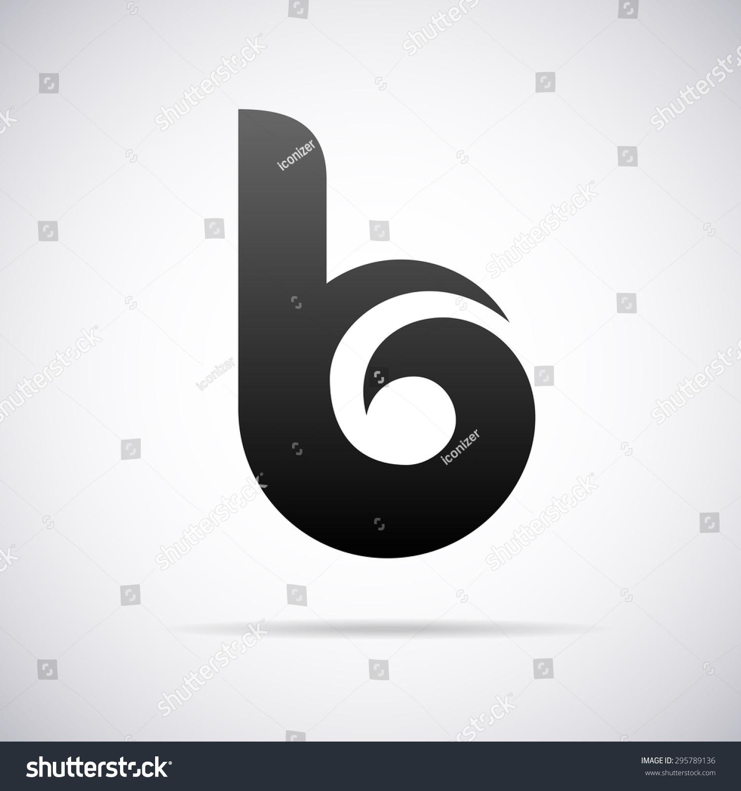 logo for letter b design template stock vector. Black Bedroom Furniture Sets. Home Design Ideas