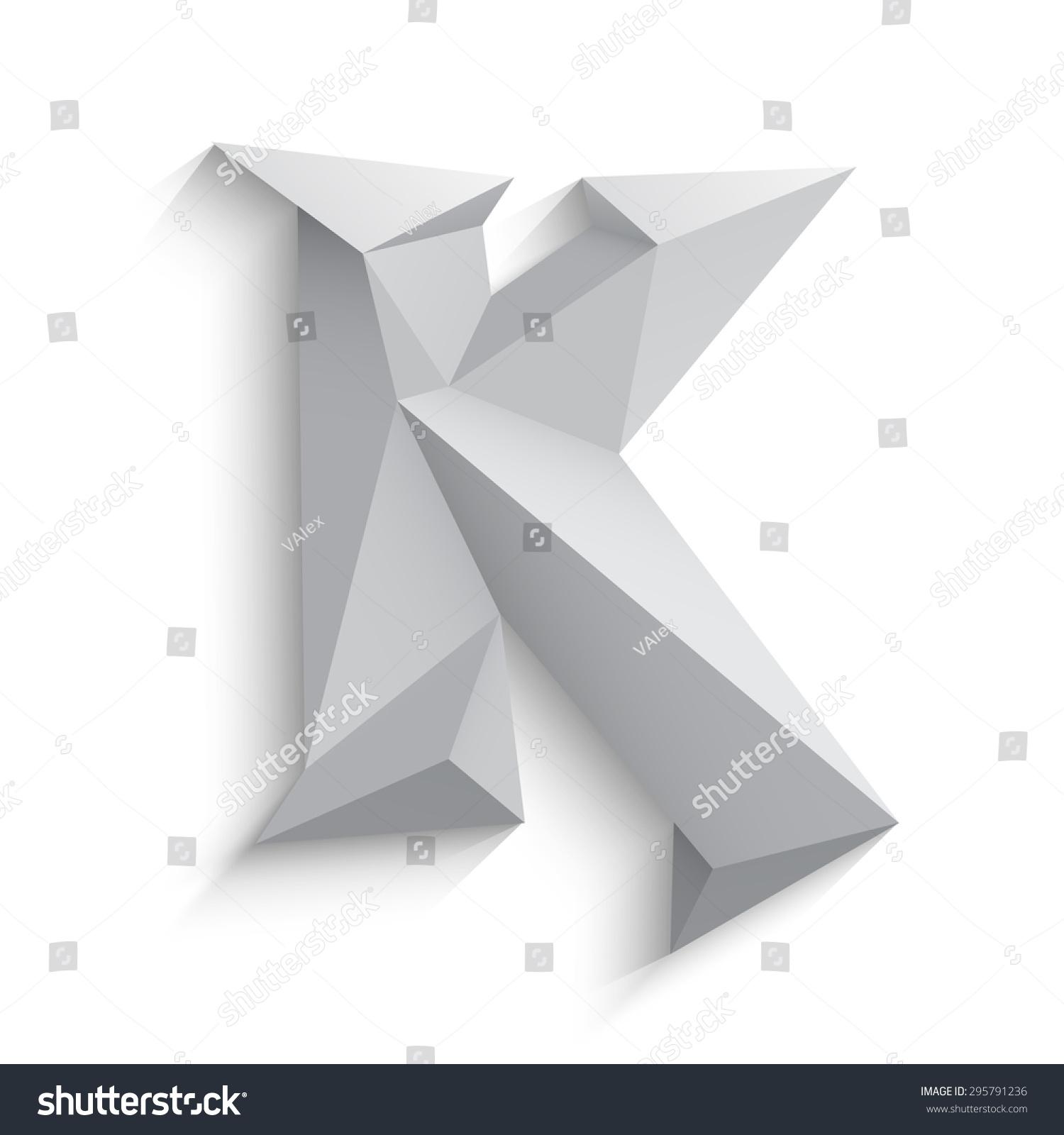 Vector Illustration 3 D Letter K On Stock Vector HD (Royalty Free ...