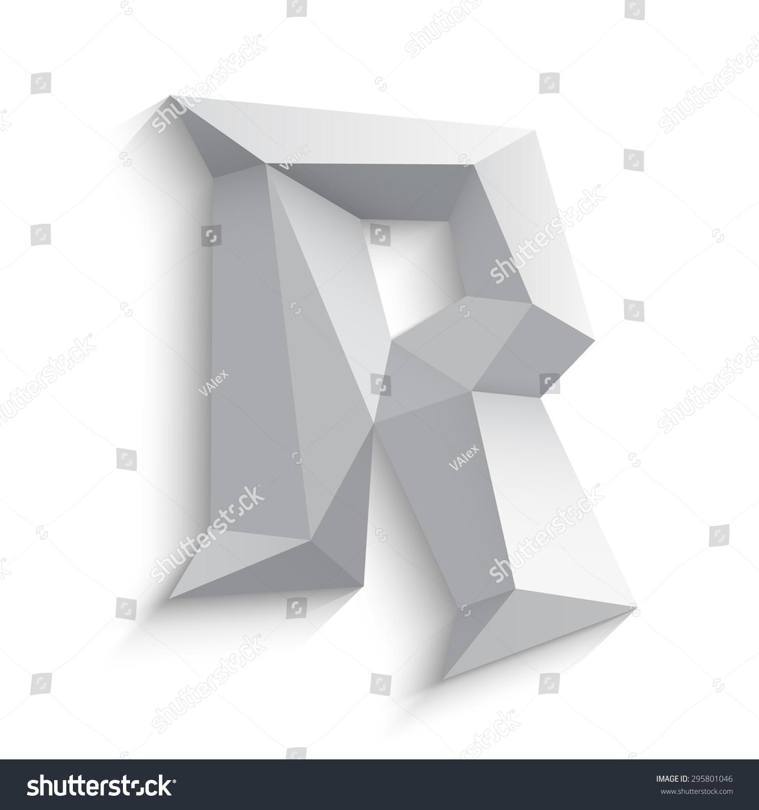 Vector Illustration 3 D Letter R On Stock Vector 295801046 ...