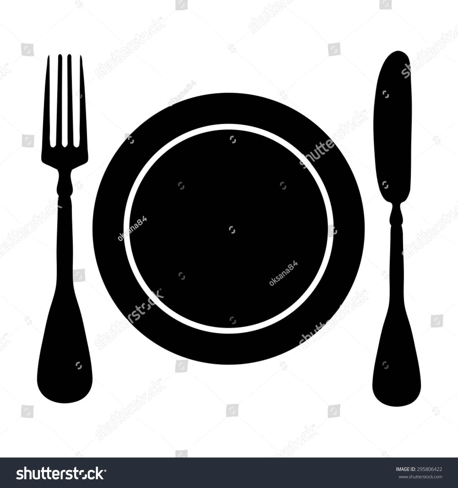 fork knife plate vector icon 295806422 shutterstock