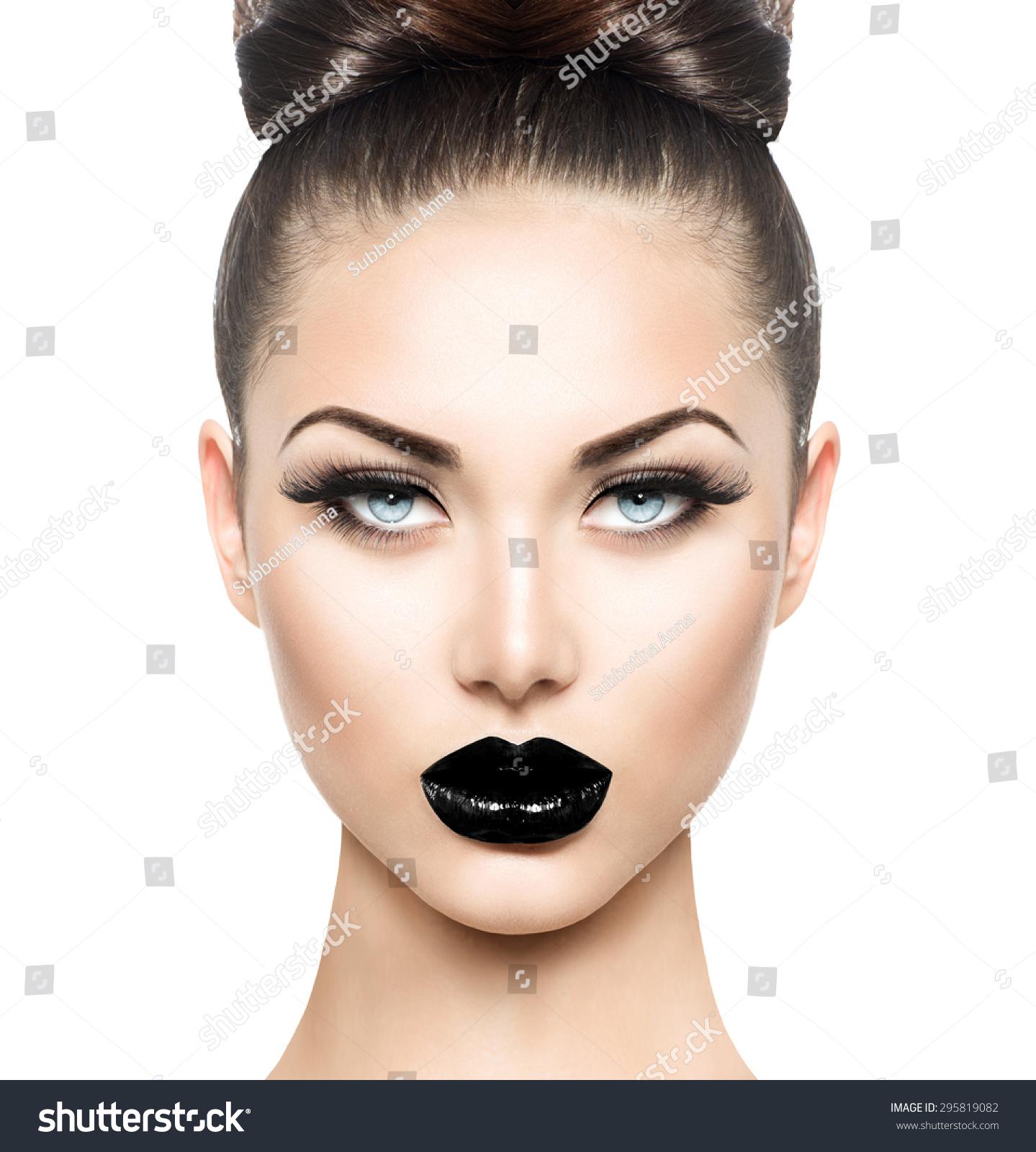 High Fashion Beauty Model Girl Black Stock Photo 295819082 Shutterstock