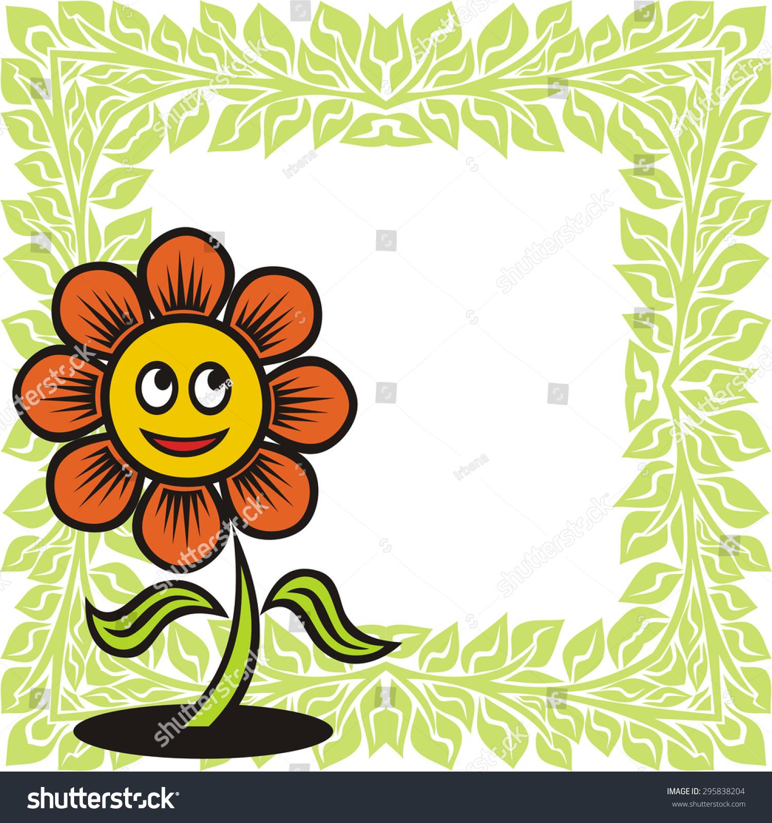 Beautiful Flower Cute Cartoon Nature Pattern Stock Vector Royalty