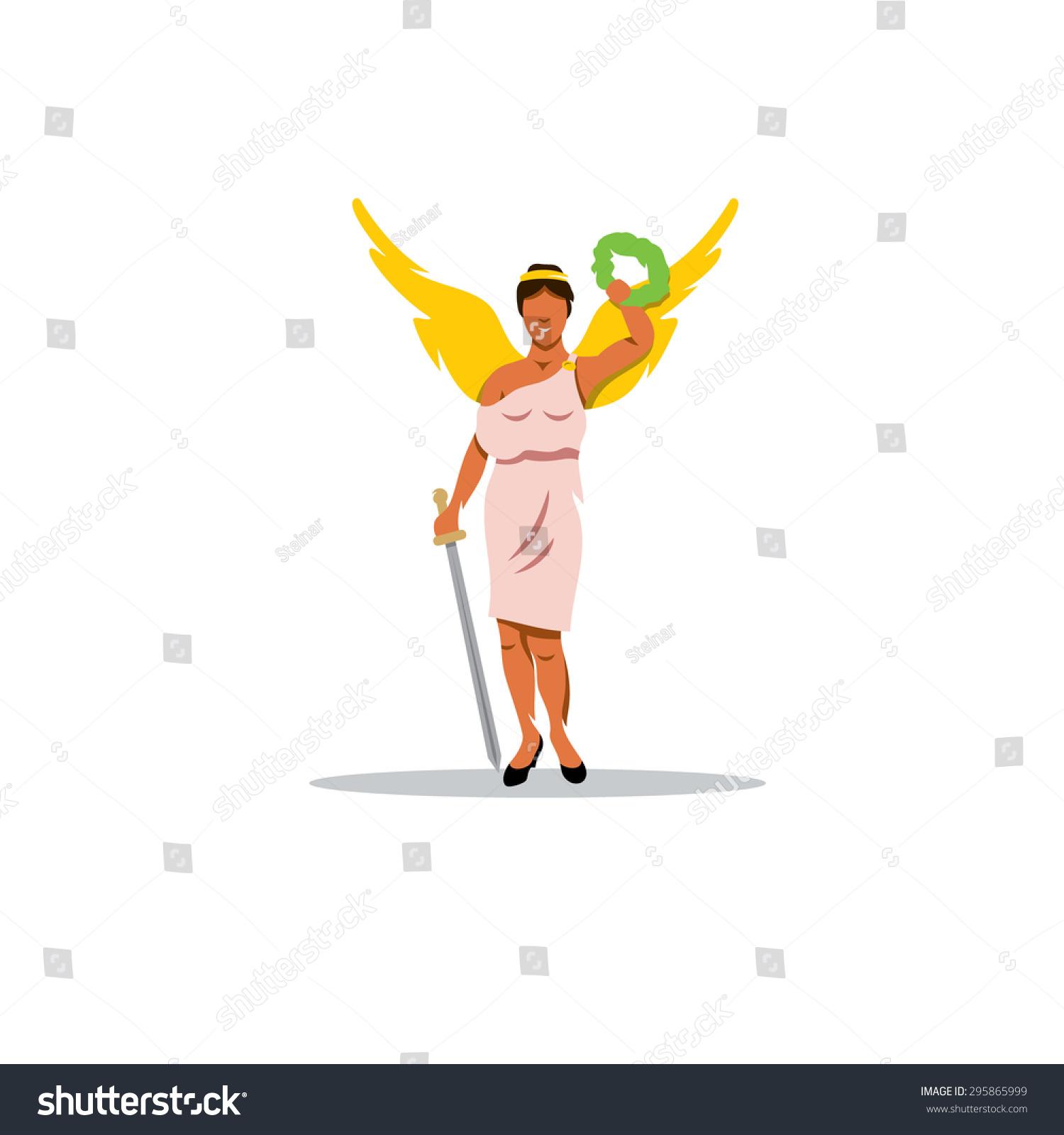 Royalty Free Stock Illustration Of Nike Sign Mythological Greek