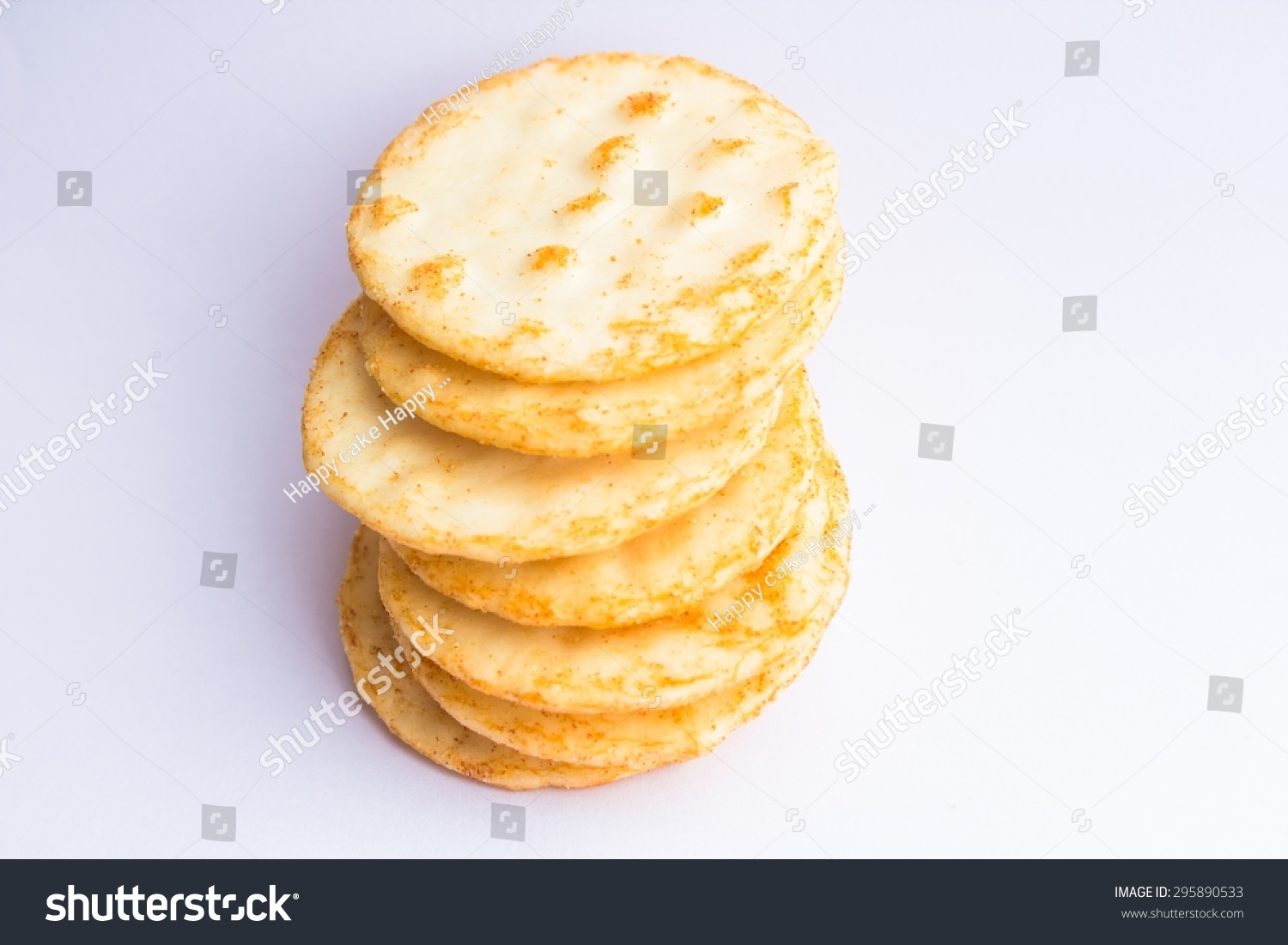 Asian Style Snack Rice Crispy Cracker Stock Photo 295890533 ...