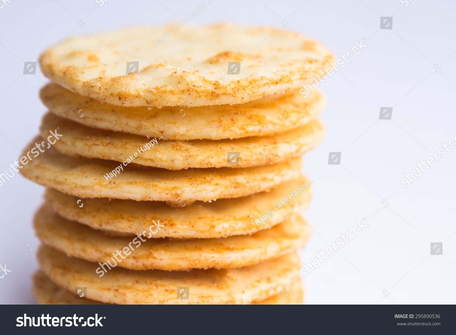 Asian Style Snack Rice Crispy Cracker Stock Photo 295890536 ...