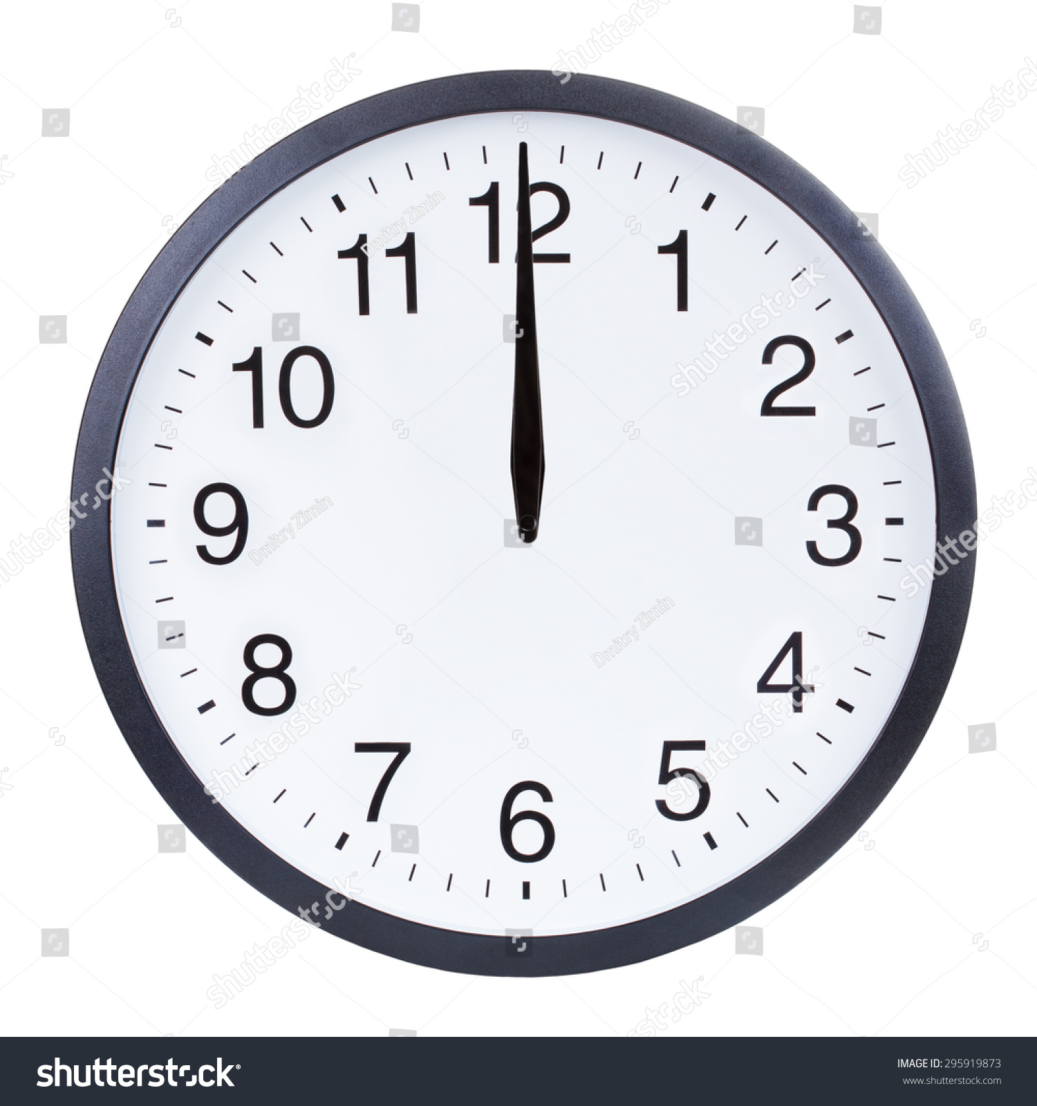 Blank Clock Face Hour Minute Second Stock Photo Edit Now 295919873