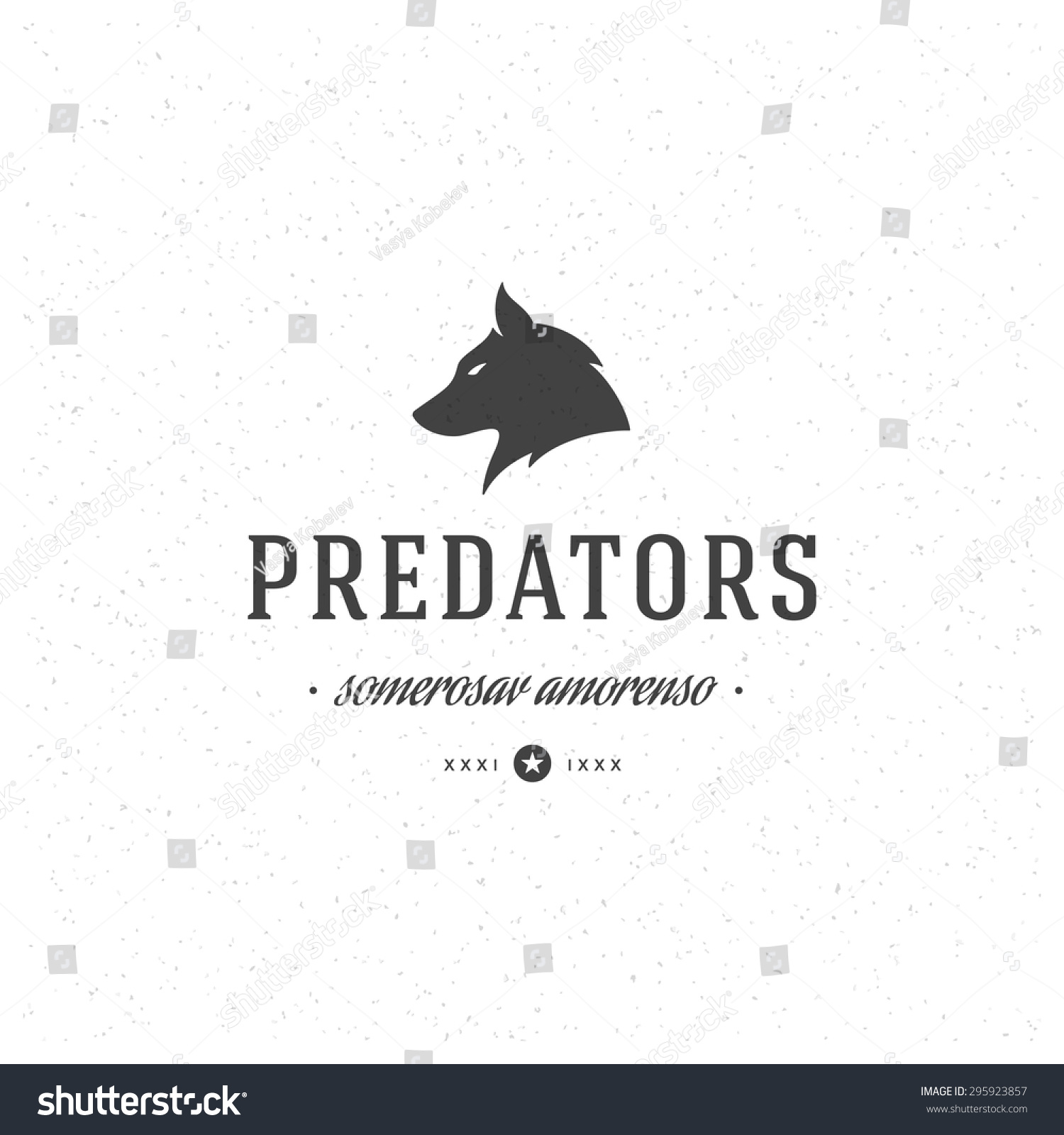 wolf logo design vector ez canvas
