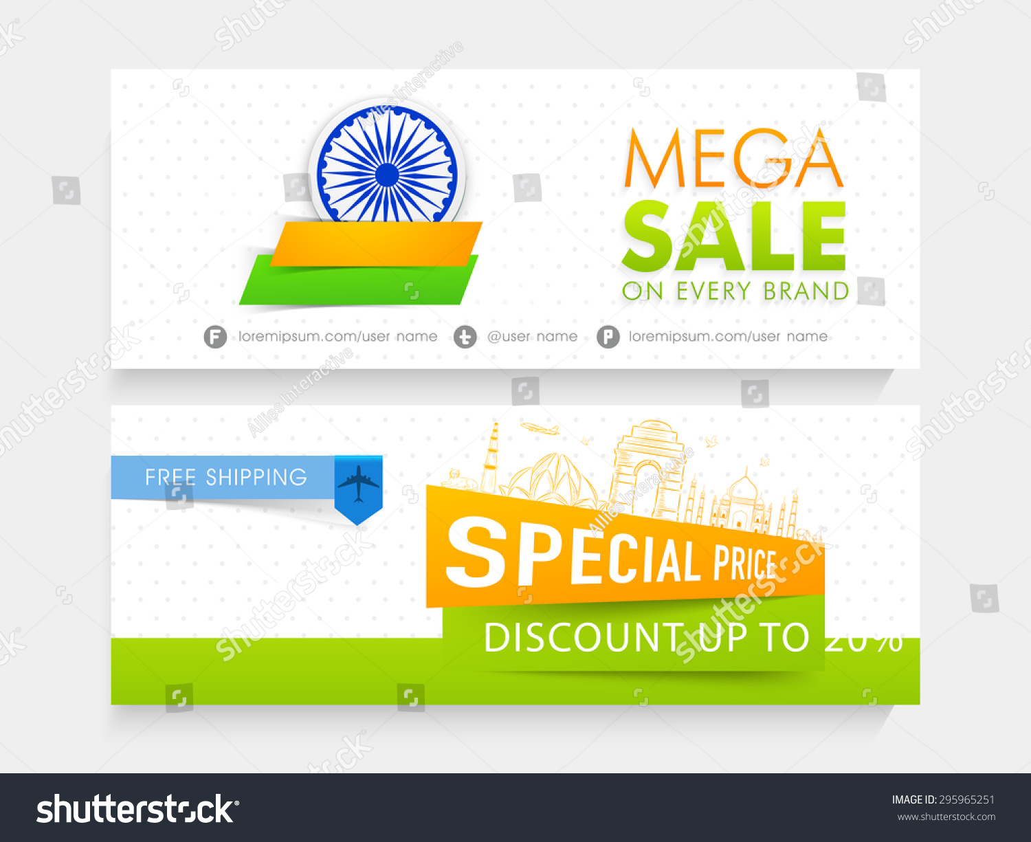 Colors website ashoka - Mega Sale With Special Discount Offer Website Header Or Banner Set Decorated With Shiny Ashoka
