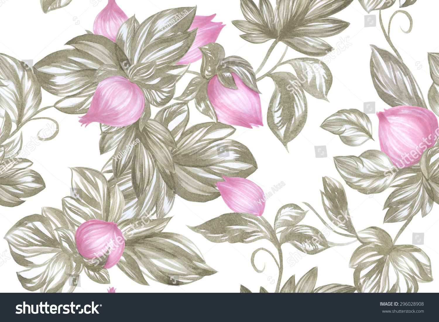 Beautiful Floral Delicate Texture Pale Pink Stock Illustration