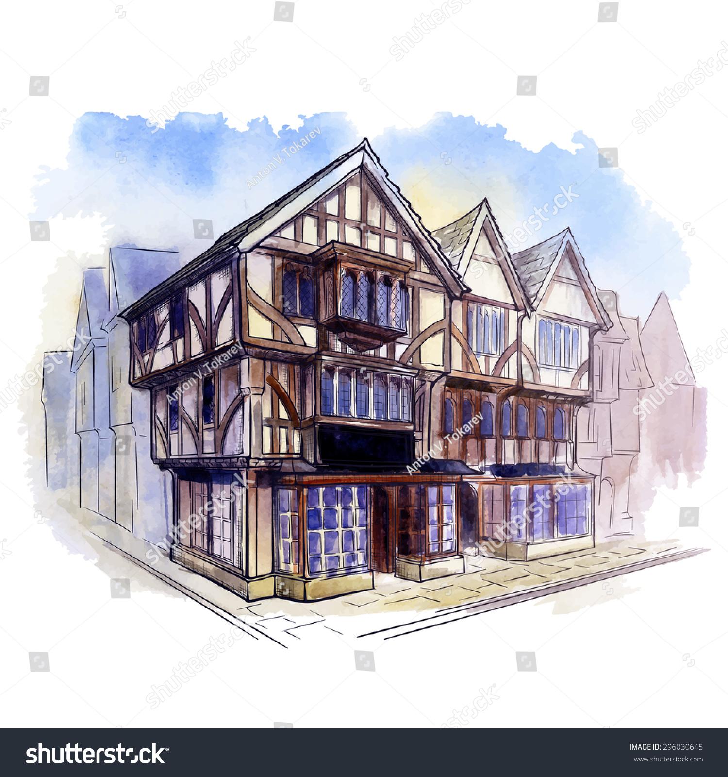 Tudor Architecture history british architectural styles tudor architecture stock