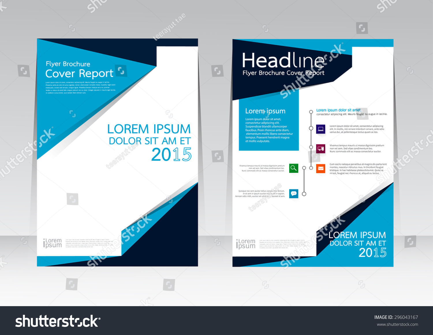 Poster design size - Vector Design For Cover Report Annual Brochure Flyer Poster In A4 Size