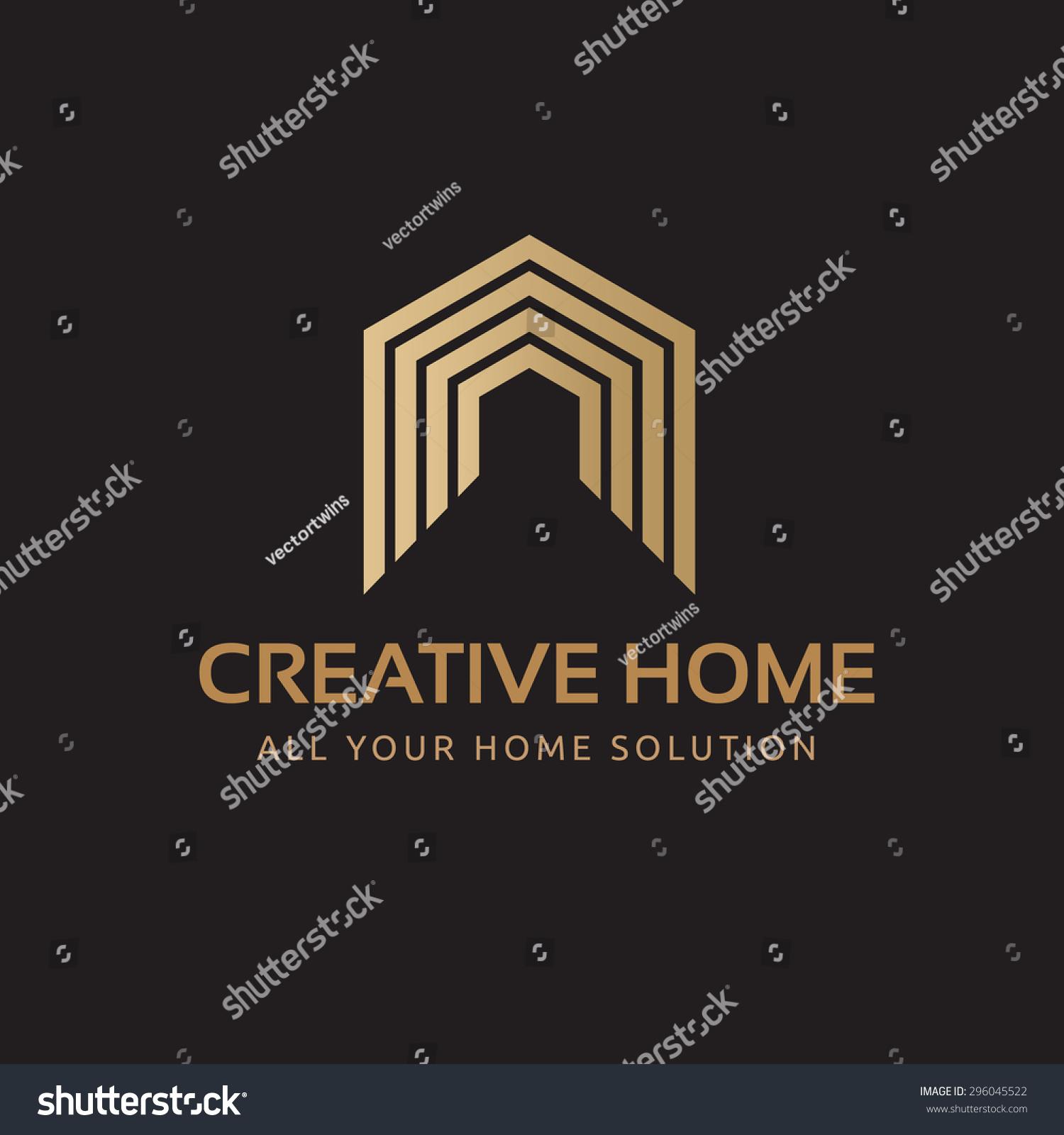 Creative Home Vector Logo Template Stock Vector 296045522