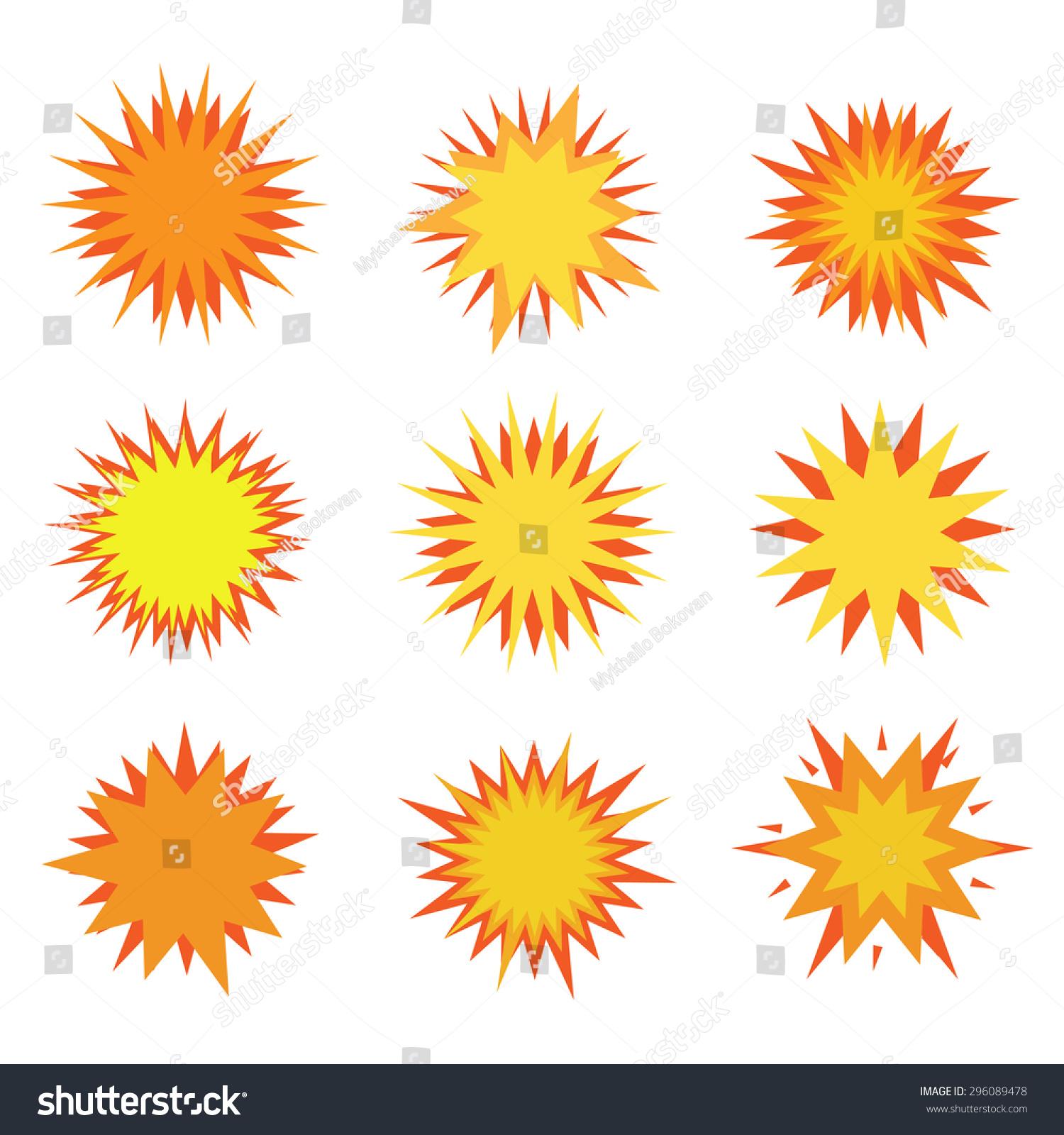 Humor explosion icon set bursting fire stock vector 296089478 humor explosion icon set bursting and fire symbols buycottarizona