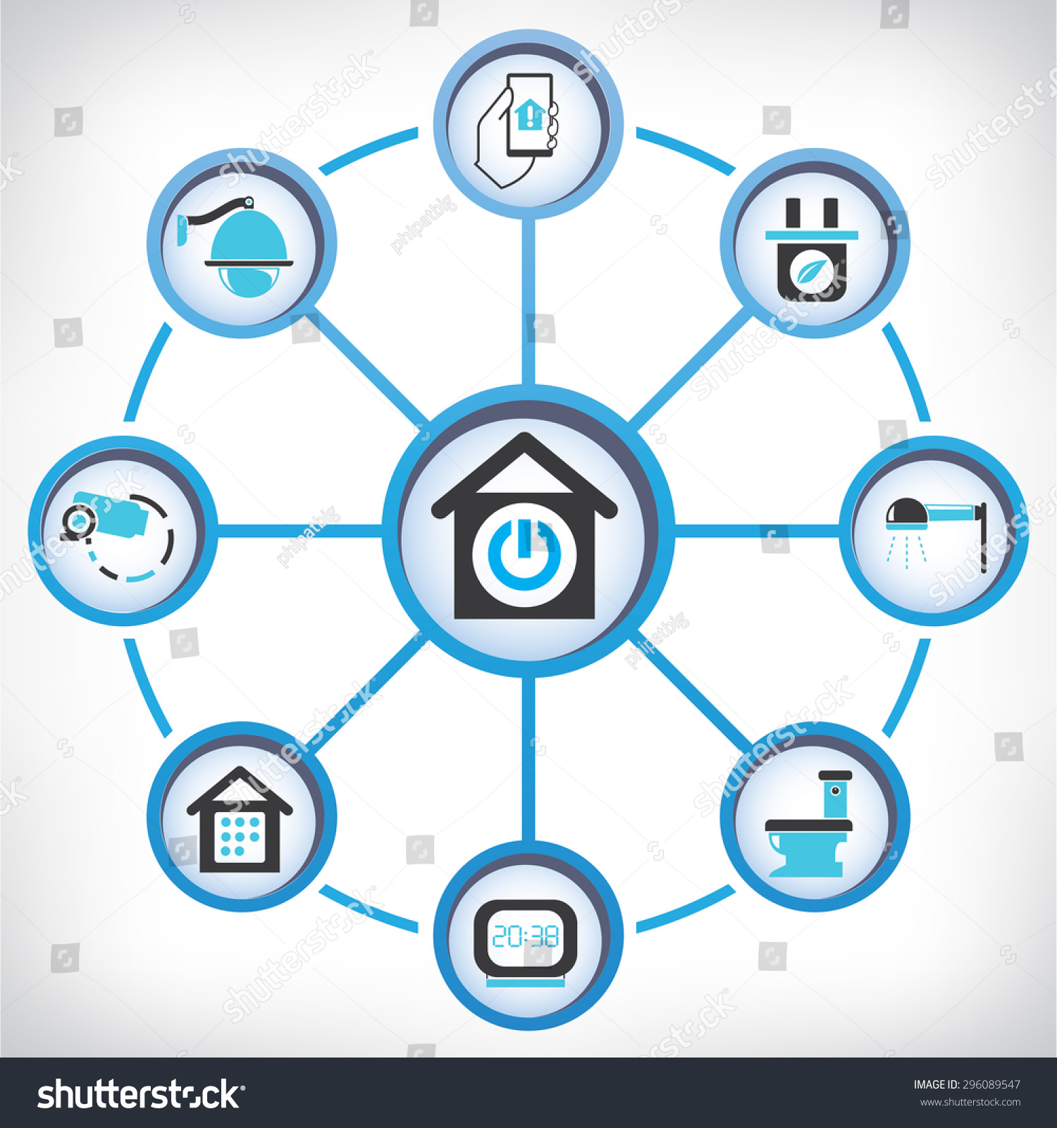 Home Automation Diagram Stock Vector 296089547 - Shutterstock