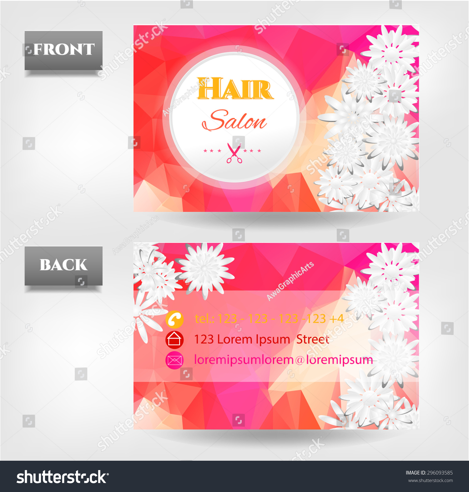 modern isolated white pink orange red stock vector