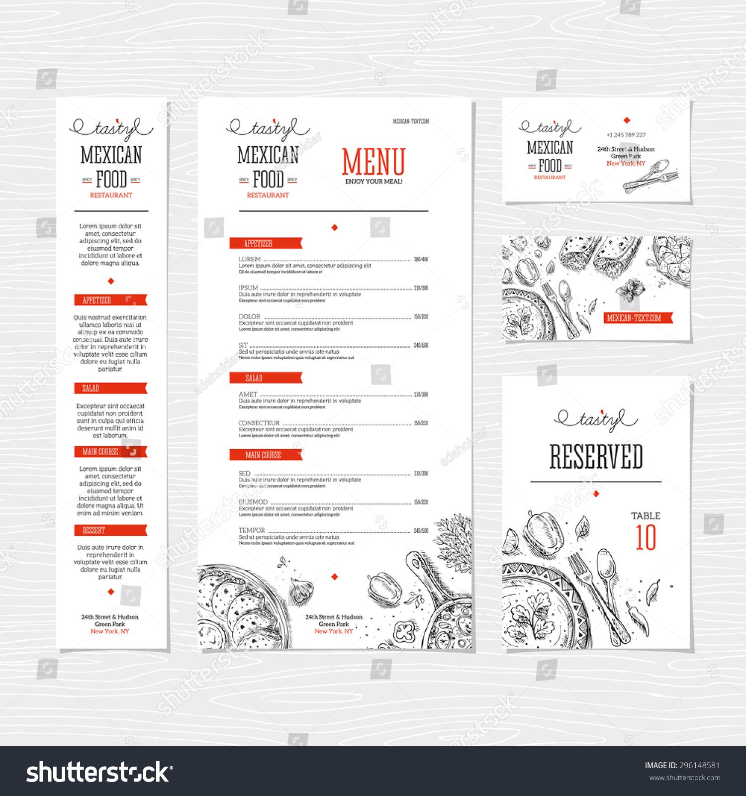 Restaurant Menu Template Cafe Identity Vector Vector – Cafe Menu Template