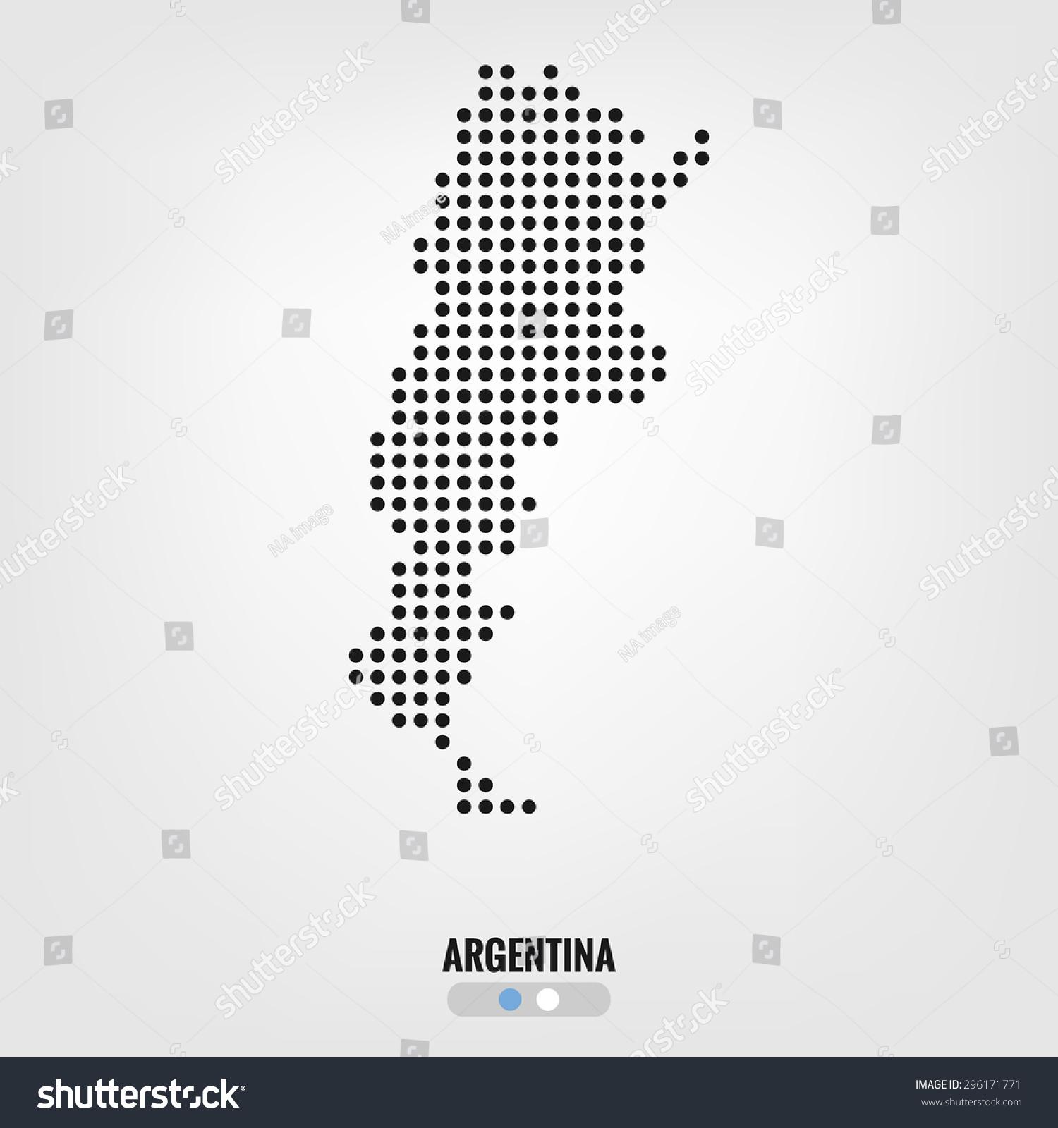 Argentina Mapvector Halftone Dots Stock Vector - Argentina map vector