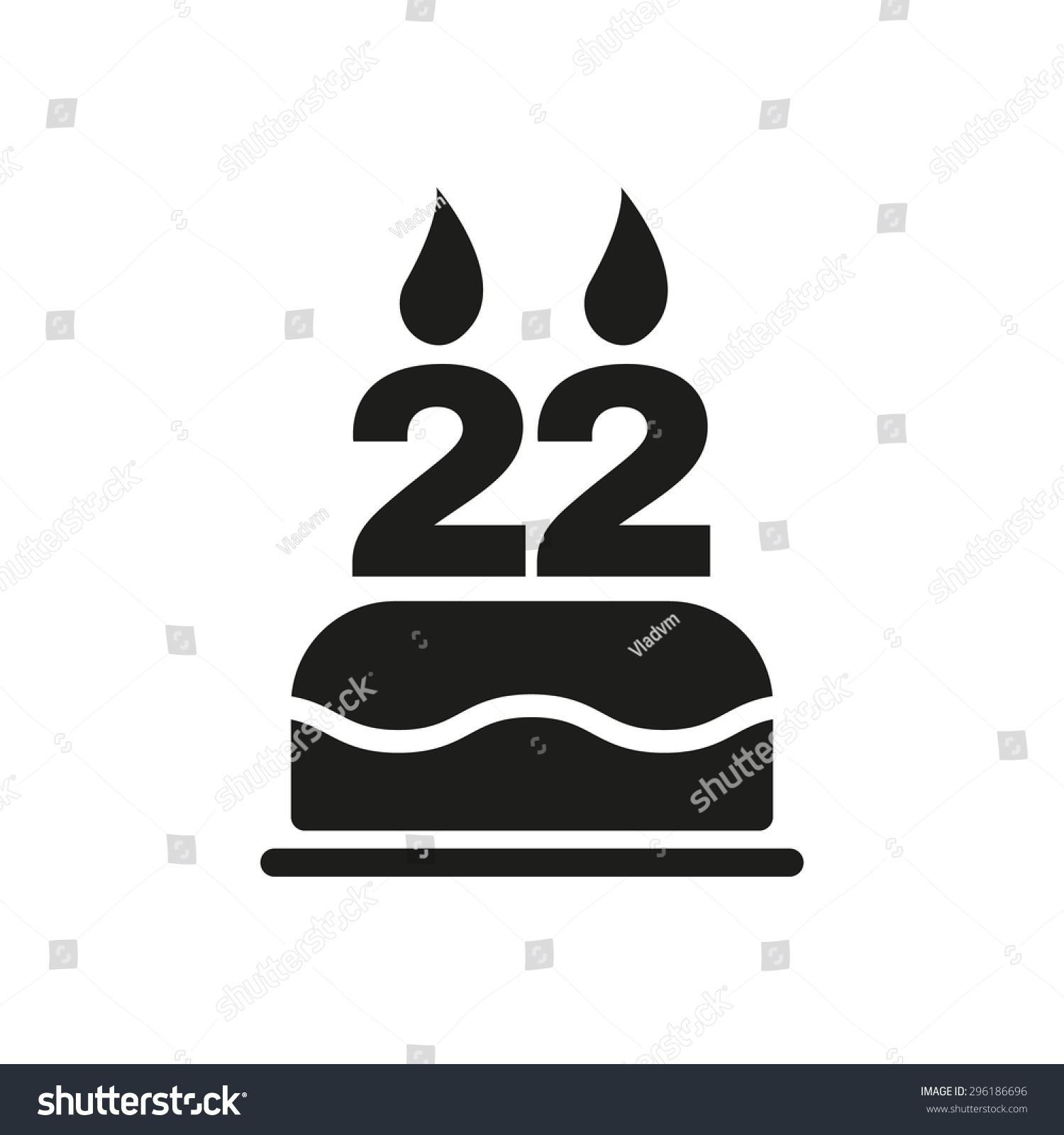 Birthday cake candles form number 22 stock vector 296186696 the birthday cake with candles in the form of number 22 icon birthday symbol biocorpaavc