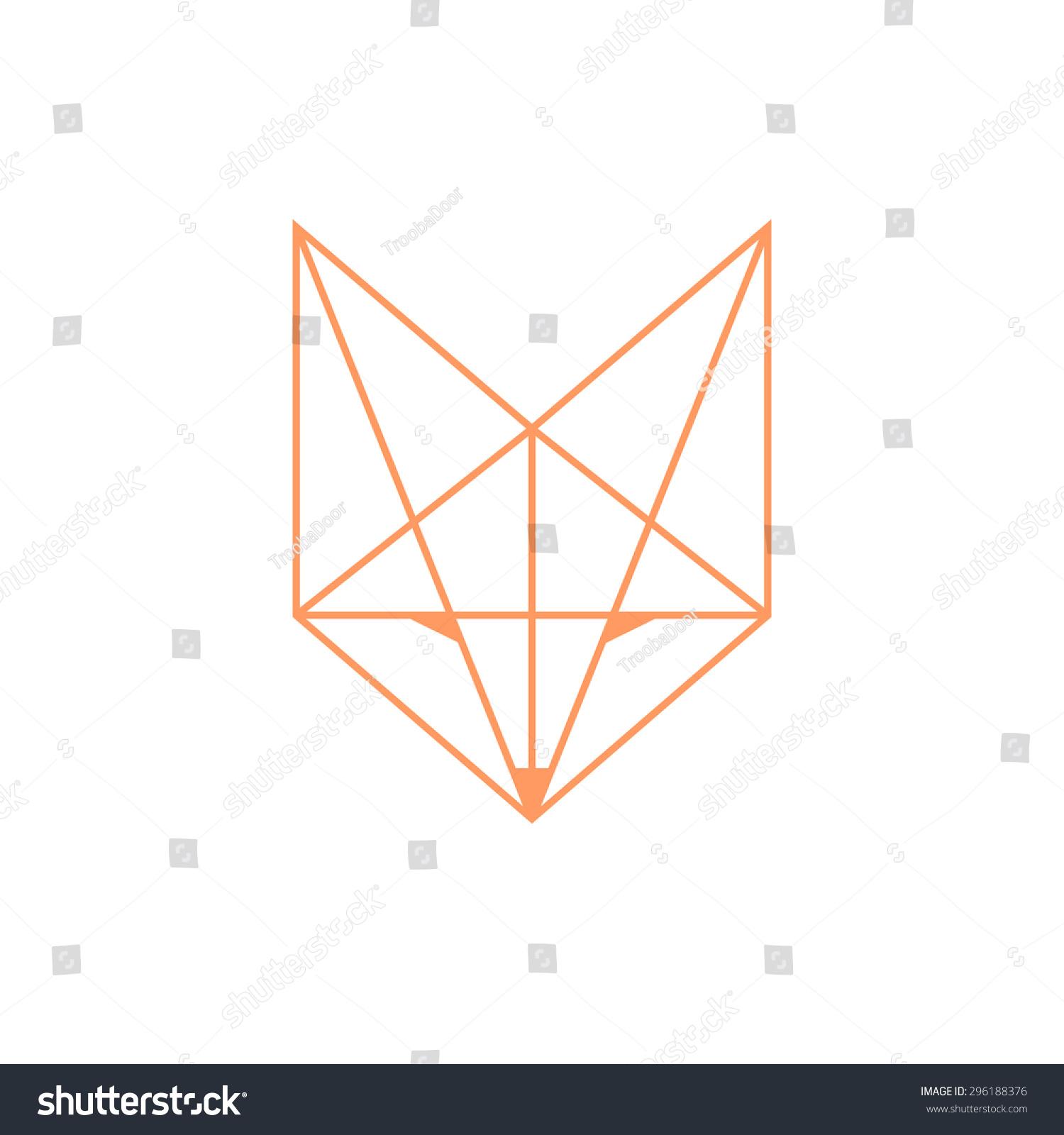 Simple fox head outline - photo#2