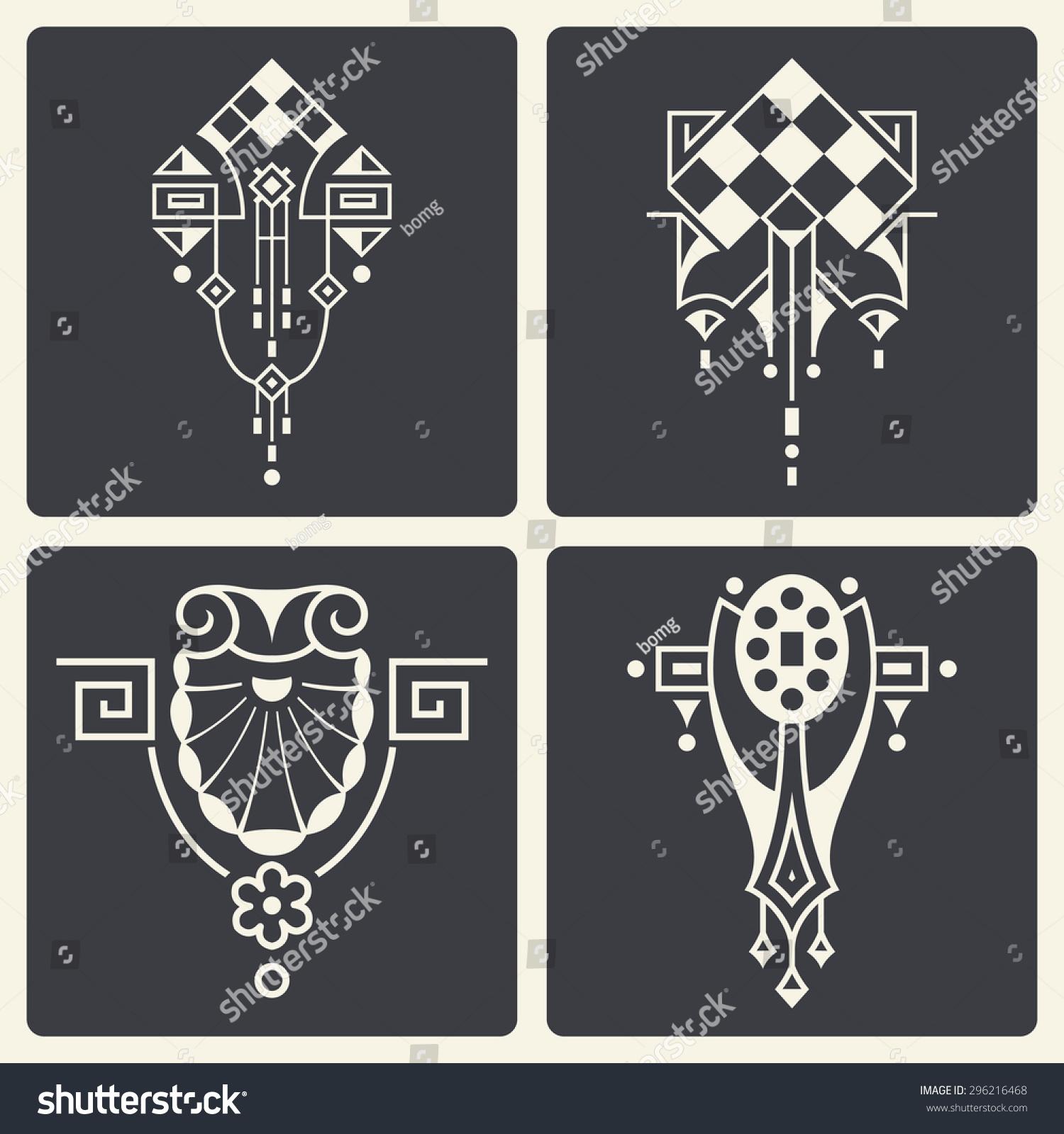 Art deco ornaments - Vector Abstract Art Deco Ornaments