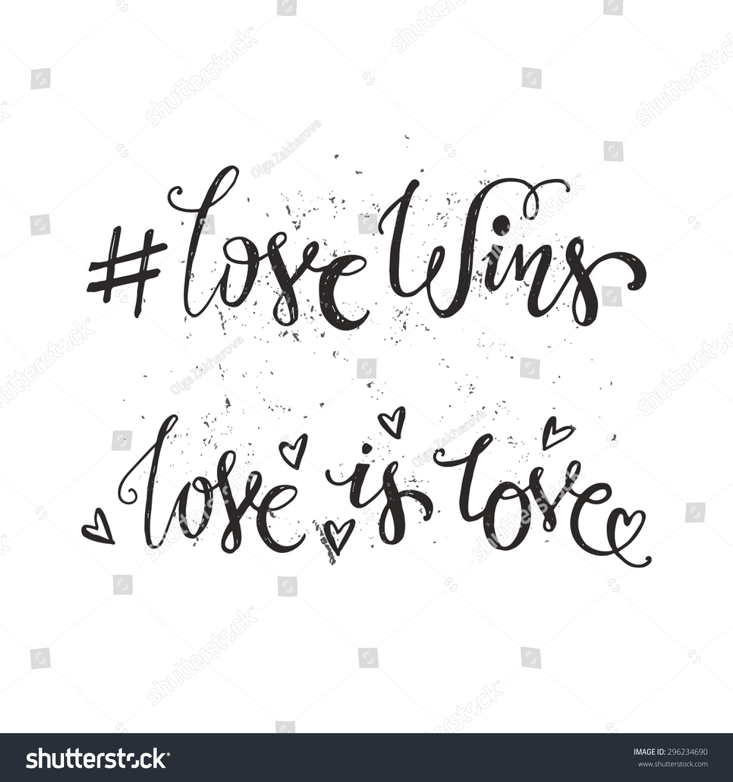 Community Quotes Handdrawn Quotes Love Wins Love Love Stock Vector 296234690