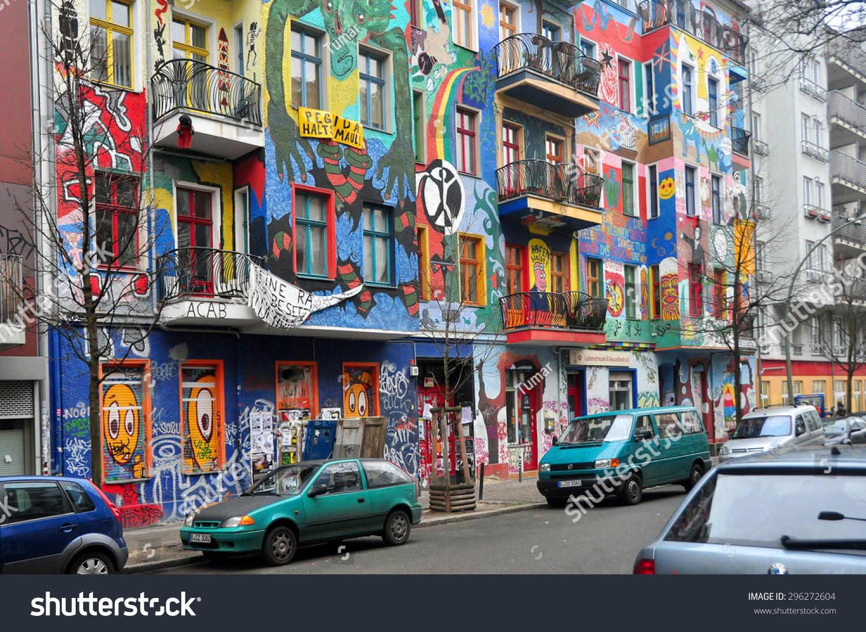 Berlin march 6 graffiti house in easten berlin berlin is the most