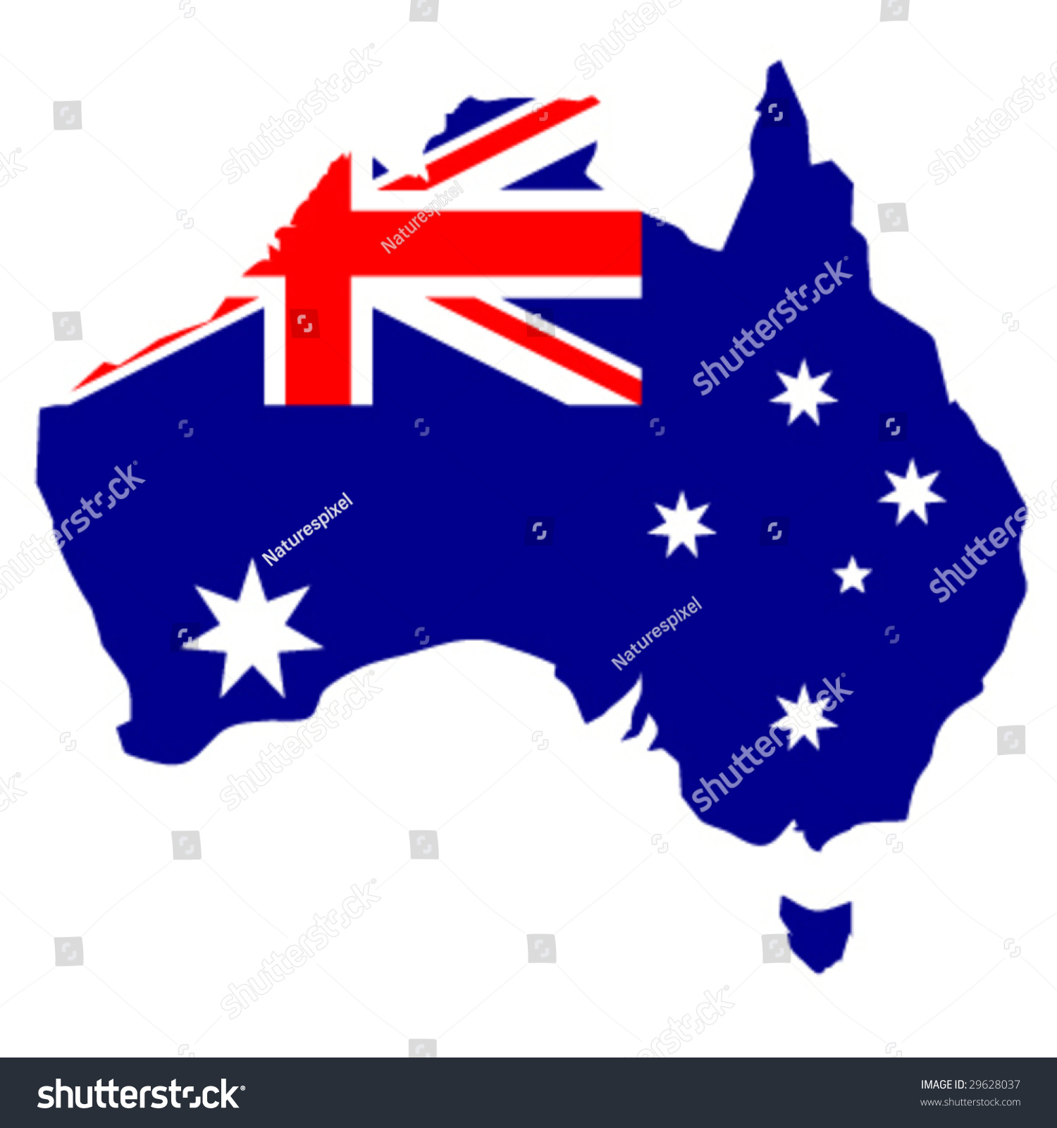 Was Tasmania Joined To Australia Stock Vector Australian Flag In The Shape Of