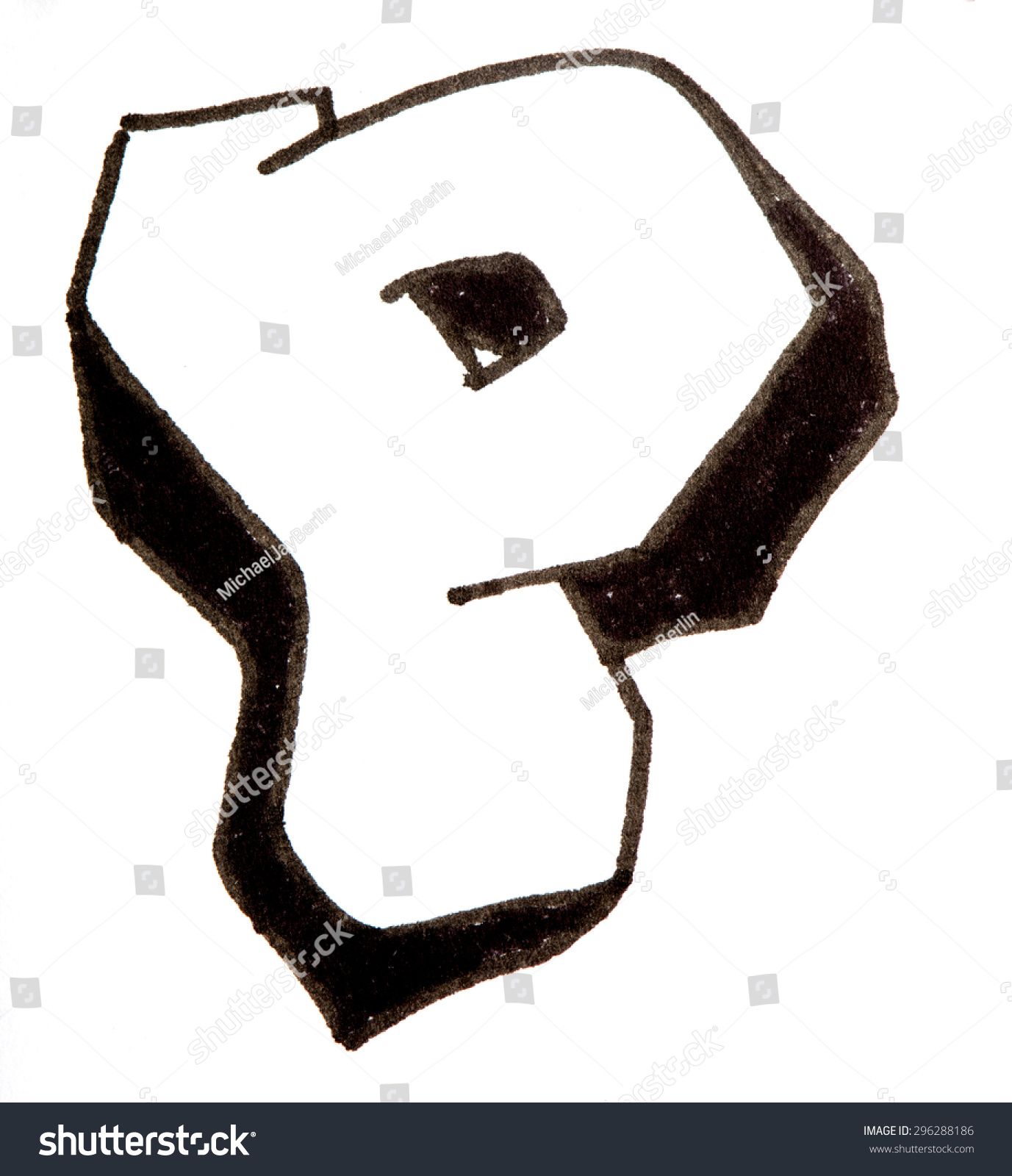 Letter P Hand Drawn Alphabet Graffiti Stockillustration 296288186