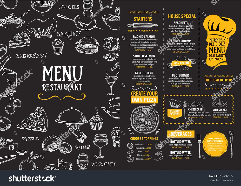 Restaurant Cafe Menu Template Design Food Stock-Vektorgrafik ...