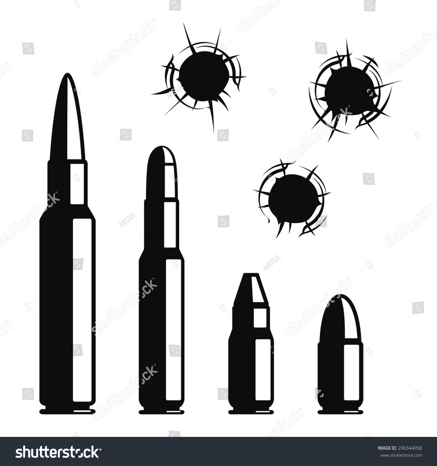 vector bullet holes set violence crime stock vector free vector bullet holes vector clipart bullet holes