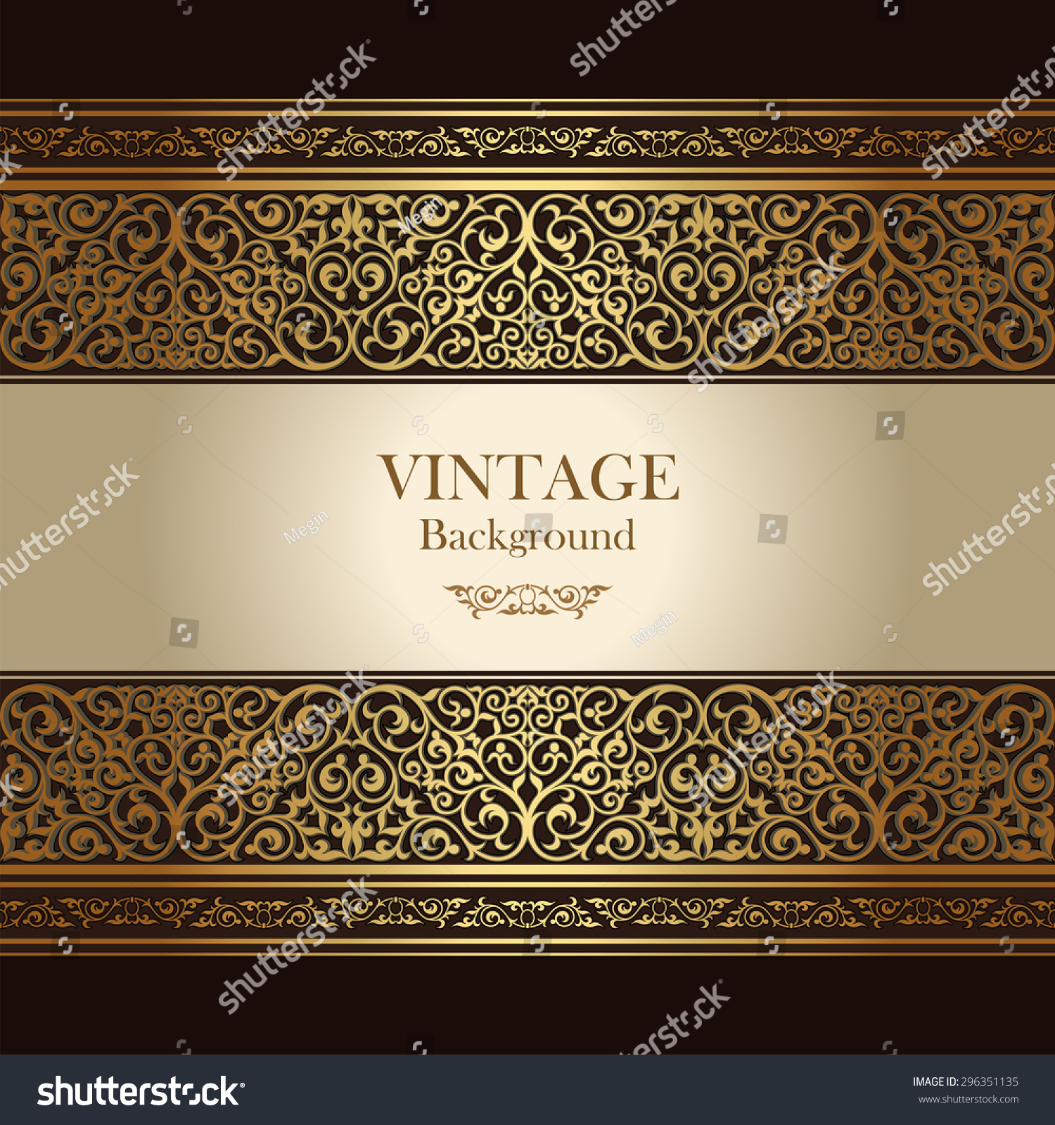 Vintage Background Islamic Style Ornament Ornamental Stock