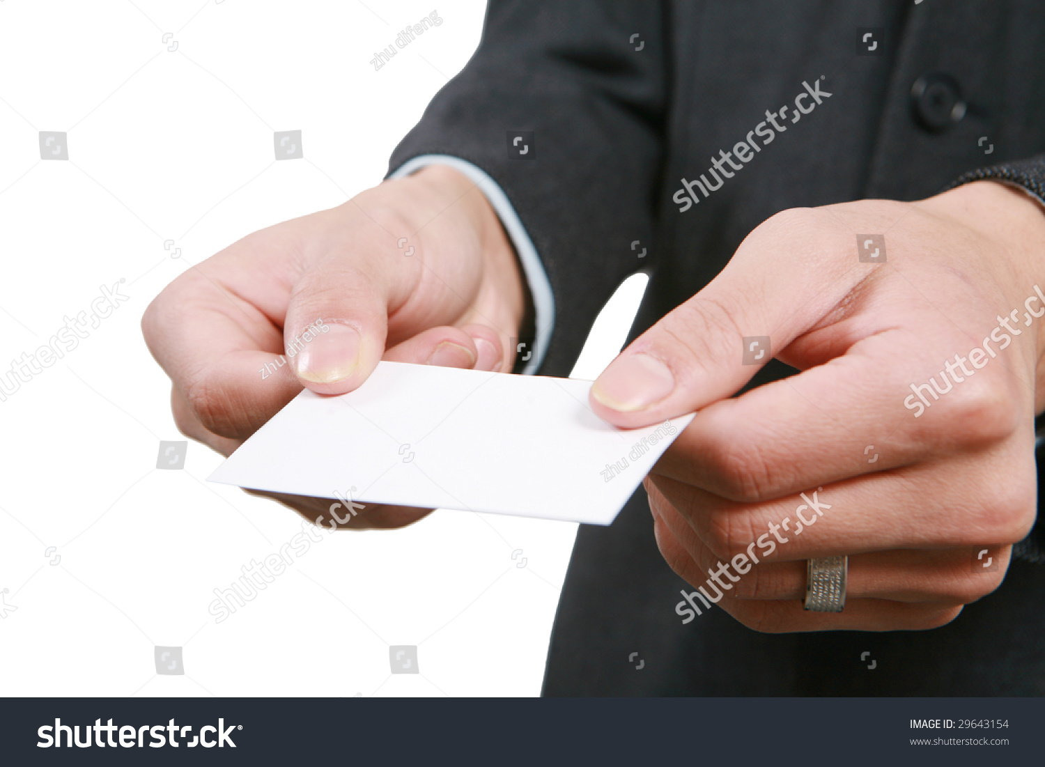 Young Asian Business Man Handing Blank Stock Photo 29643154 ...