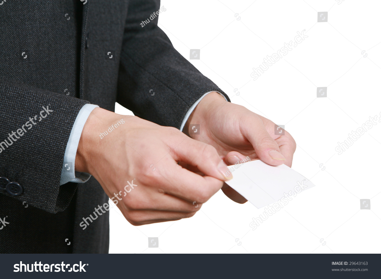 Young Asian Business Man Handing Blank Stock Photo 29643163 ...