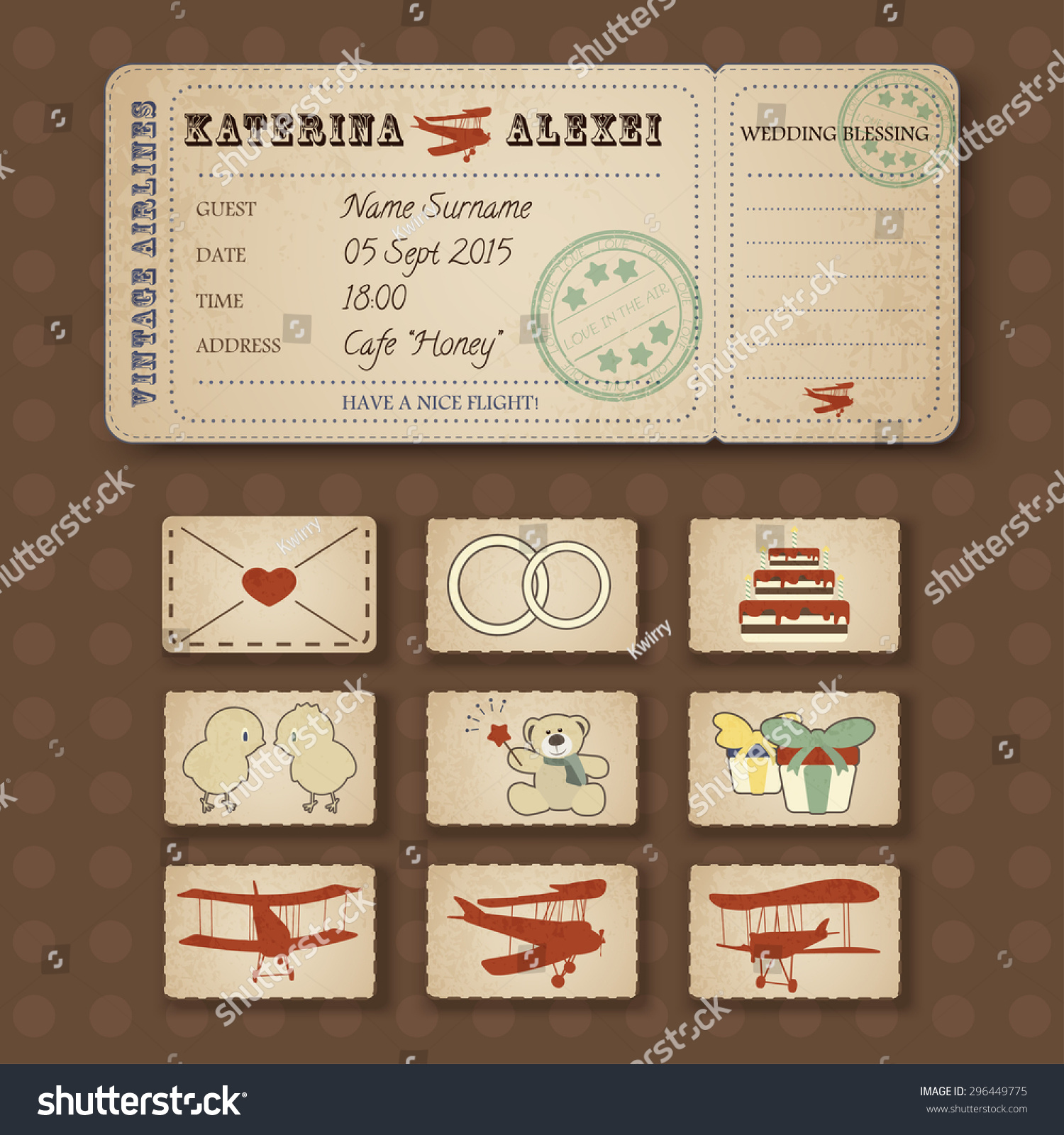 Plane Ticket Wedding Invitations – Airline Ticket Birthday Invitations