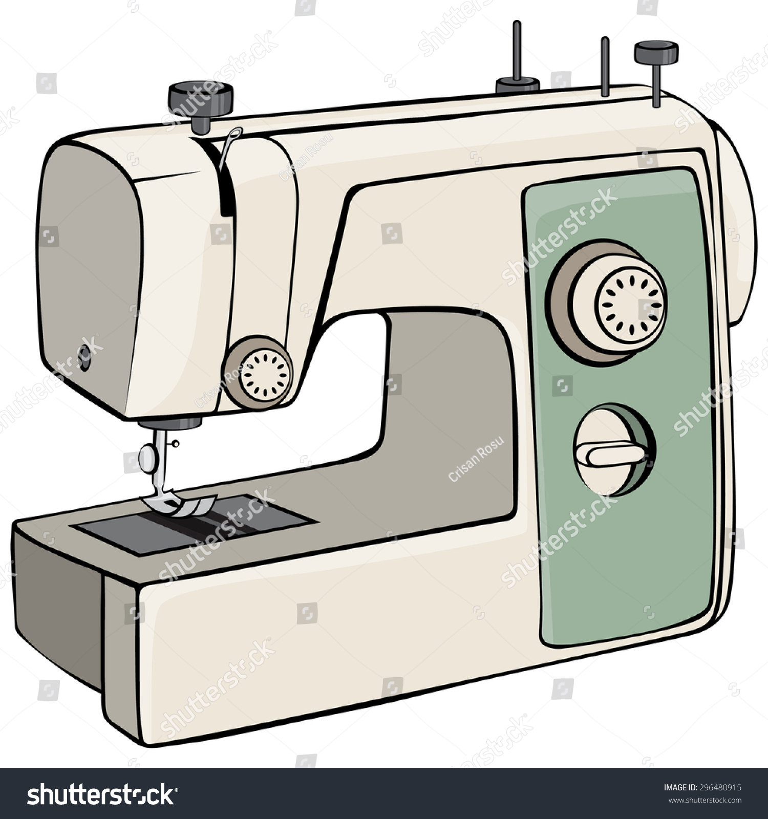 drawing of sewing machine