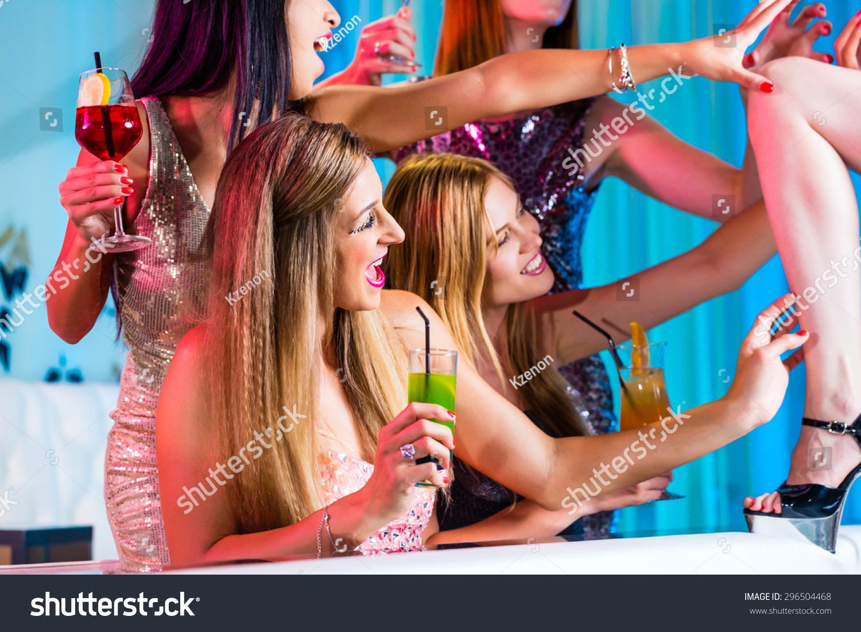 Drunkgirls in a strip club