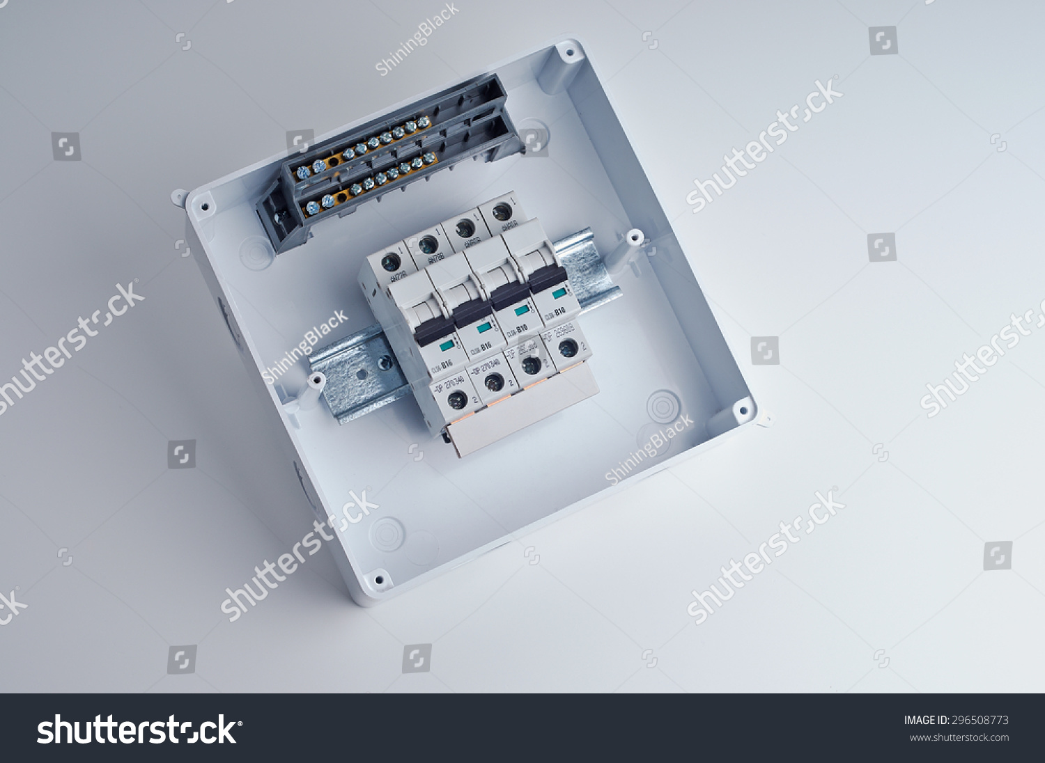 Small Electrical Fuse Box Worksheet And Wiring Diagram Home Cover Fusebox Open Cabinet Four Stock Photo Edit Now Rh Shutterstock Com