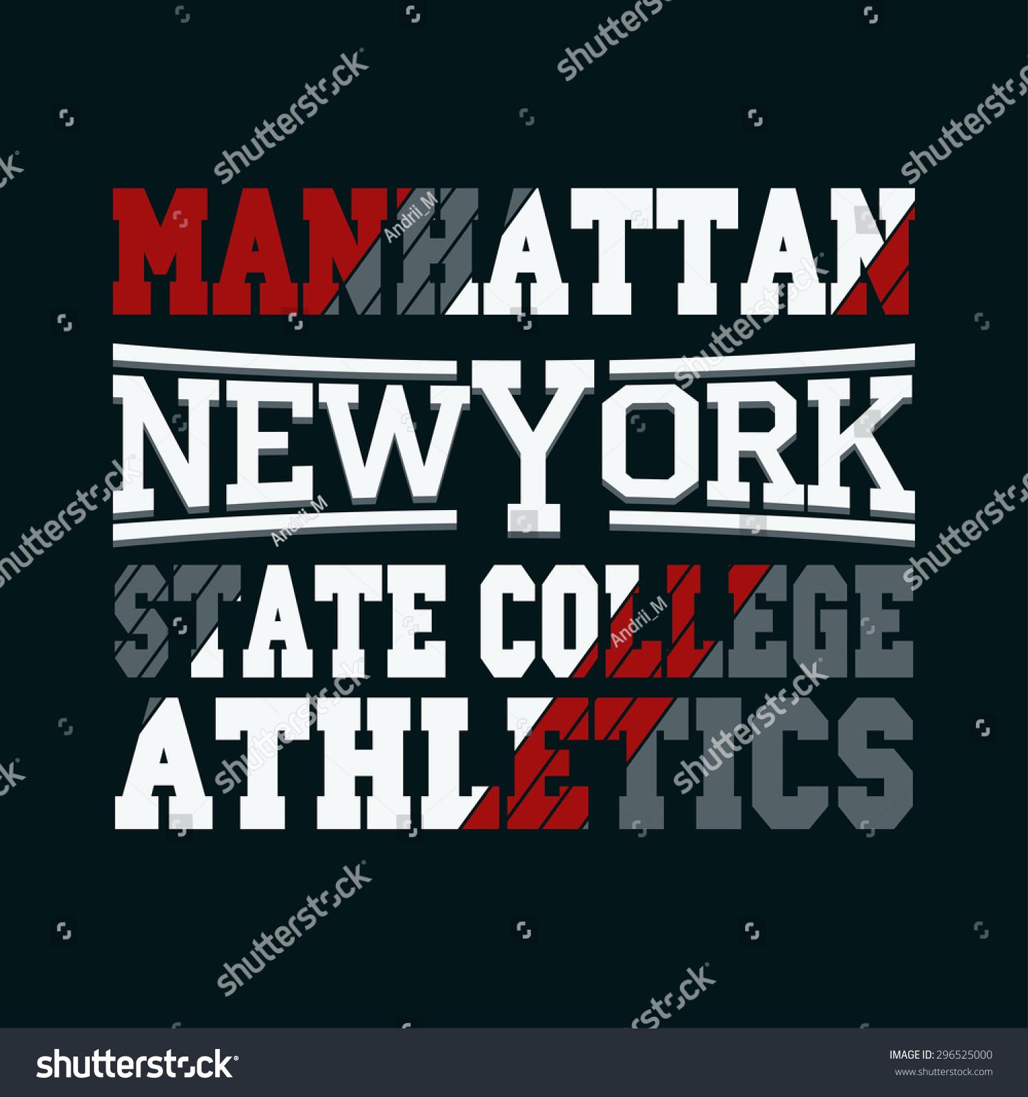 Shirt design usa - New York City Typography Graphics Manhattan T Shirt Design Print College Jersey Print