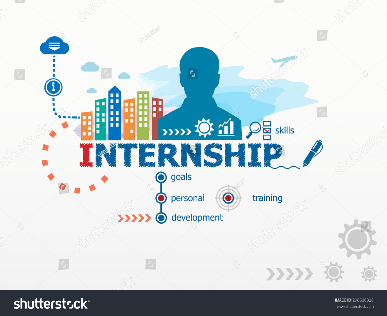 Internship concept business man flat design stock vector for Design consultancy internship