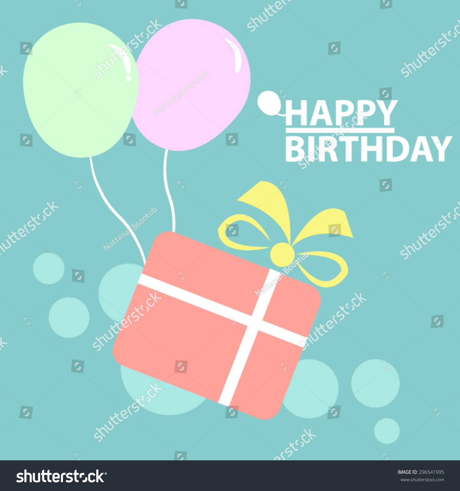 Happy Birthday Card Gift Boxes Flat Vector 296541995 – Birthday Card Gift